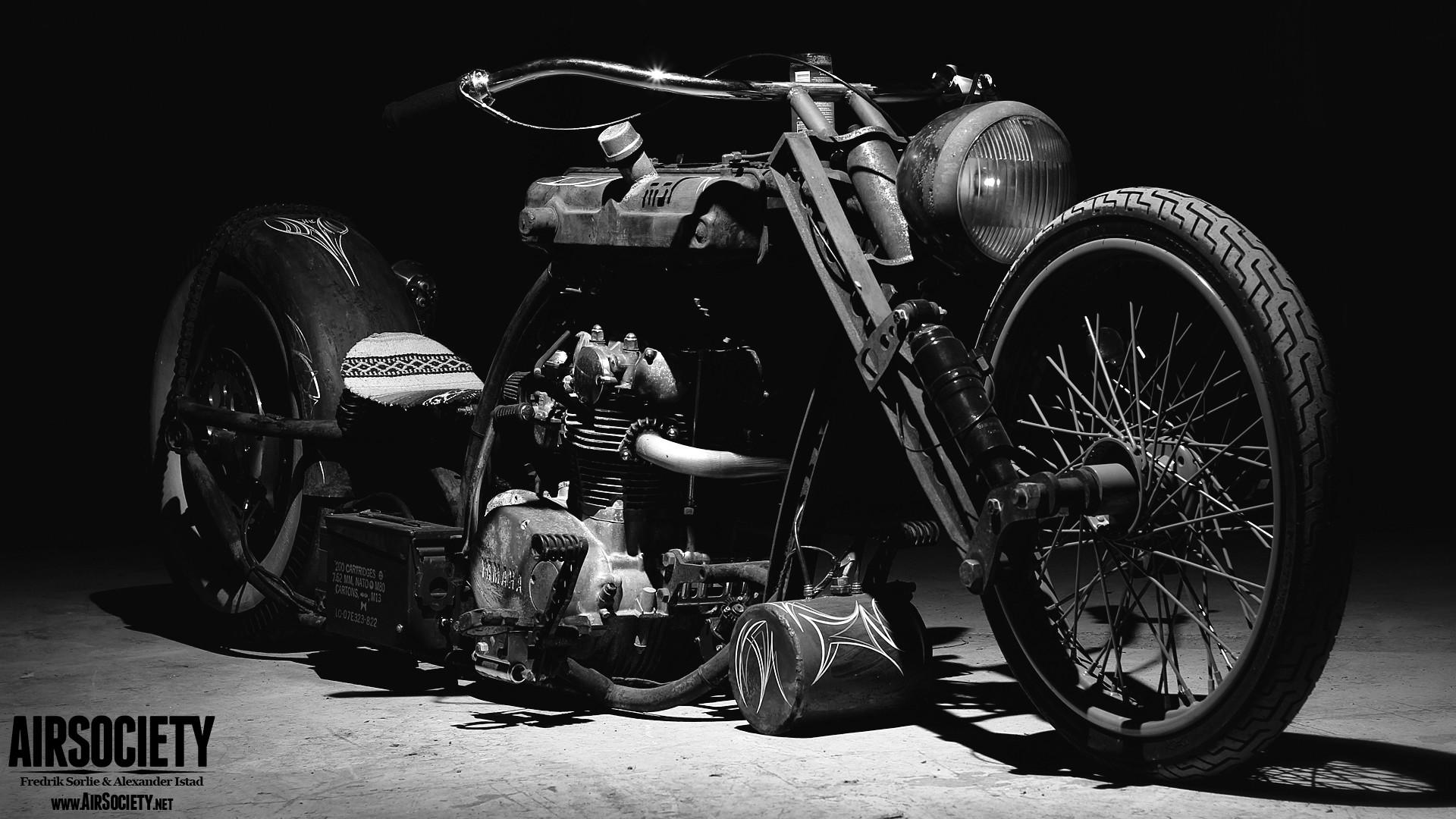 … rat-bike-air-ride-suspension-bagged-rust-motorcycle- …