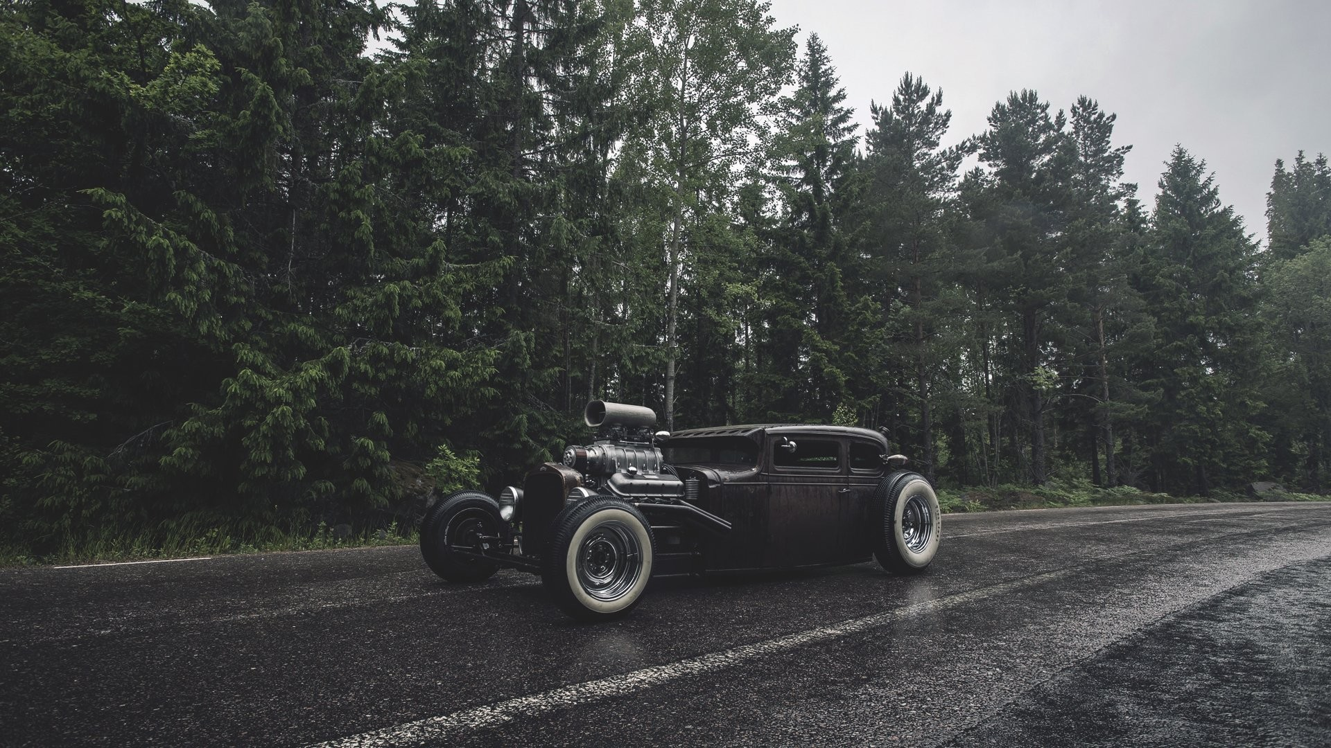 ford rat rod forest rain ford forest rain