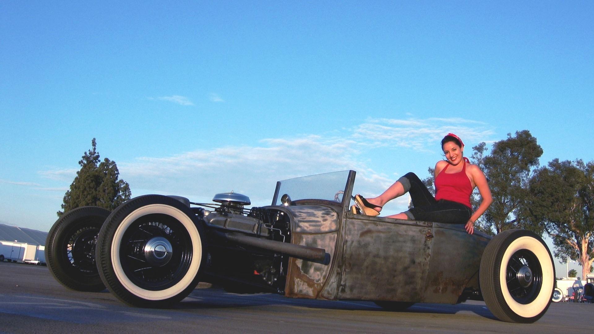 women cars pinups rat rod HD Wallpaper – Girls (#986311)