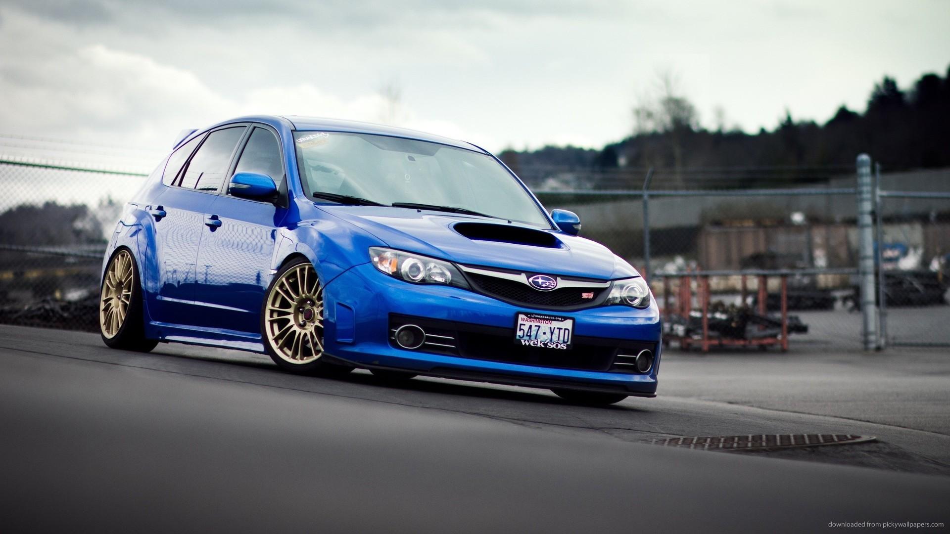 Blue Subaru Impreza WRX STI picture