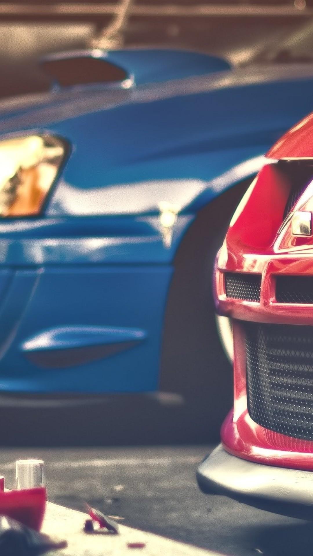 Mitsubishi Lancer Evolution, Subaru Wrx Sti, Front View, Racing, Cars