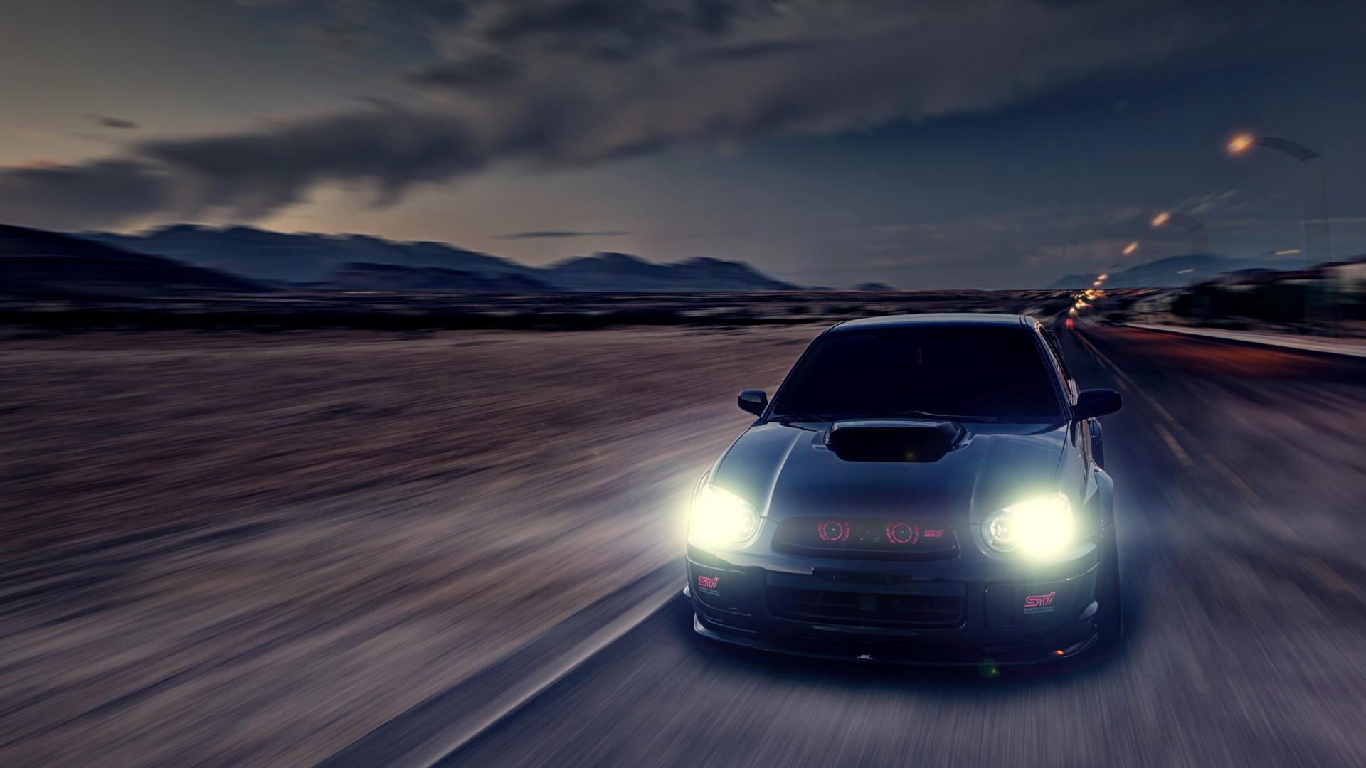 Cars Roads Subaru Impreza WRX STI