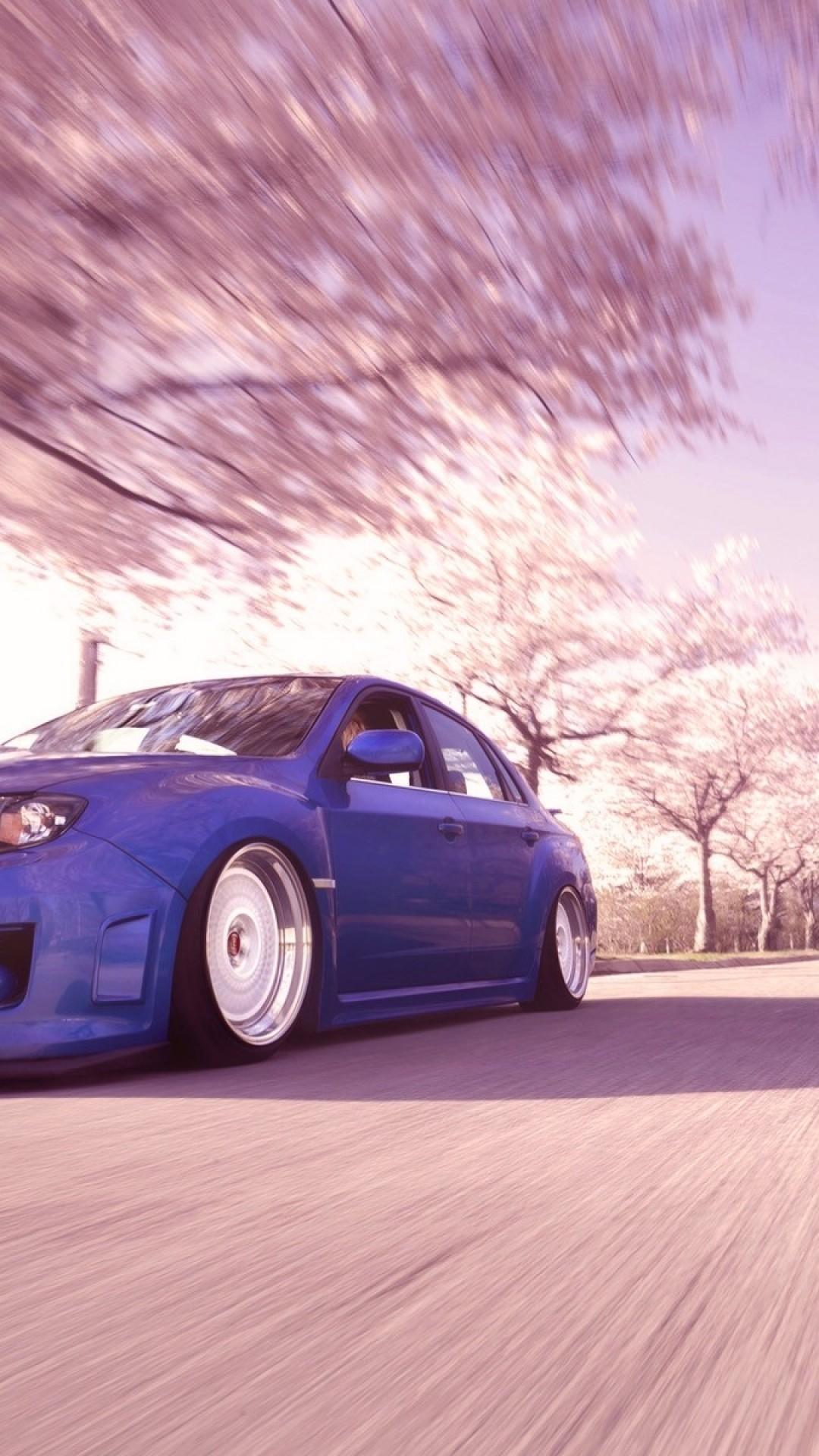Subaru Wrx Sti, Blurred, Trees, Spring, Cars