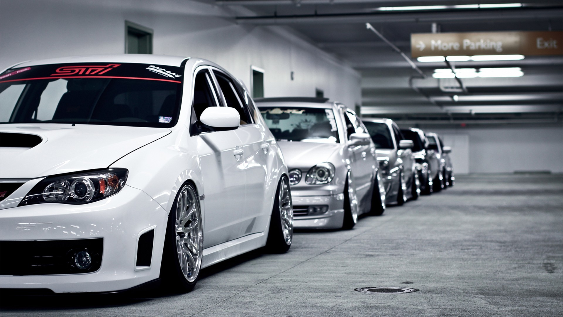 Cars Lexus Parking Lot Stance Subaru Impreza WRX STI Toyota Tuning