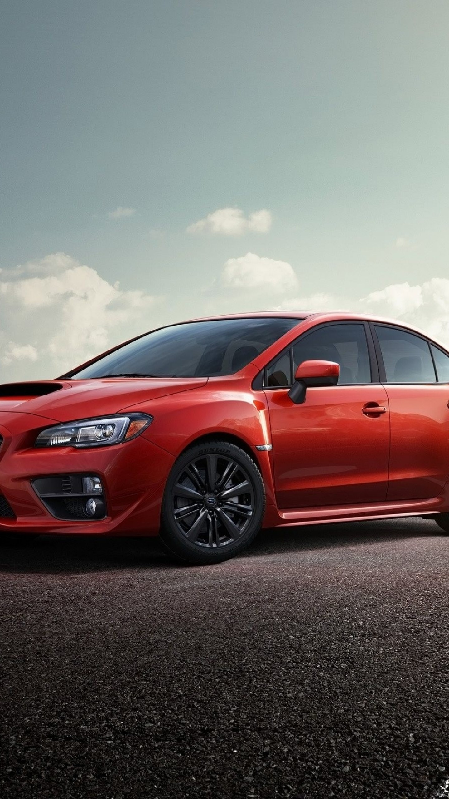 Preview wallpaper subaru impreza, wrx sti, 2015, red, track 1440×2560