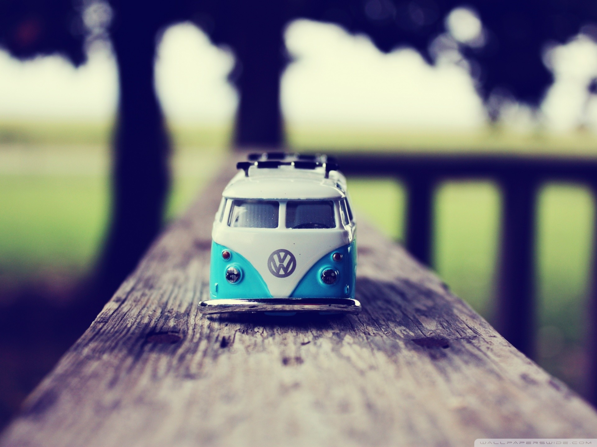 "Little Volkswagen Bus ""Bulli"" toy wallpaper"