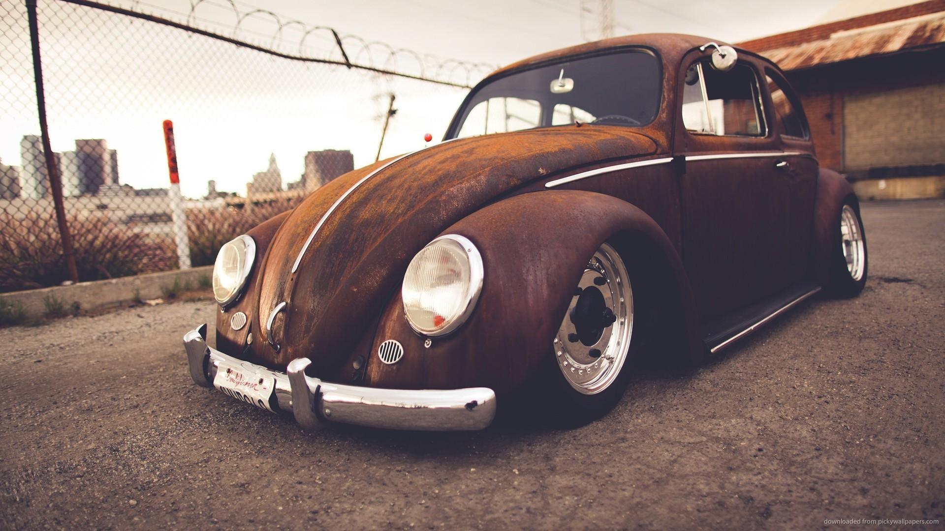 Rusty Volkswagen Beetle Cabriolet picture