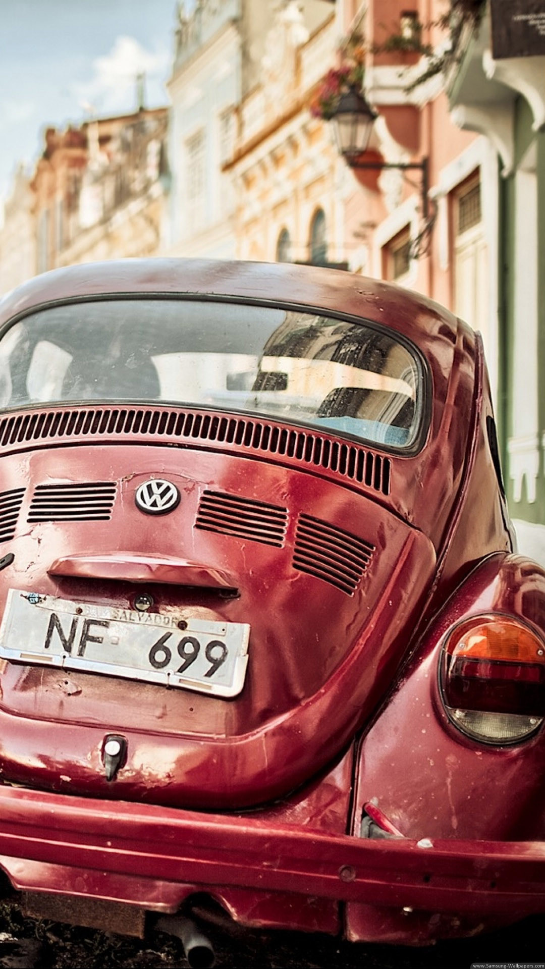 Vintage Volkswagen Beetle iPhone 6 Plus HD Wallpaper –  https://freebestpicture.com