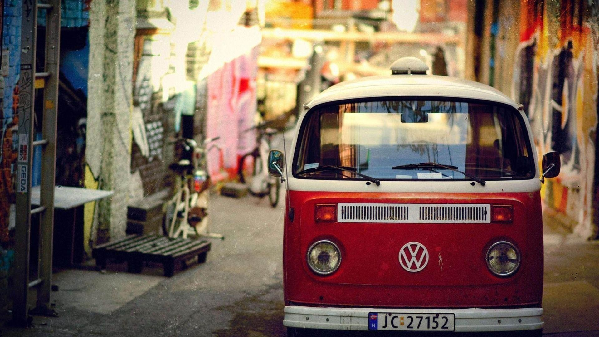 Old Red VW Bus Wallpaper Photos #10275 Wallpaper | Wallpaper .