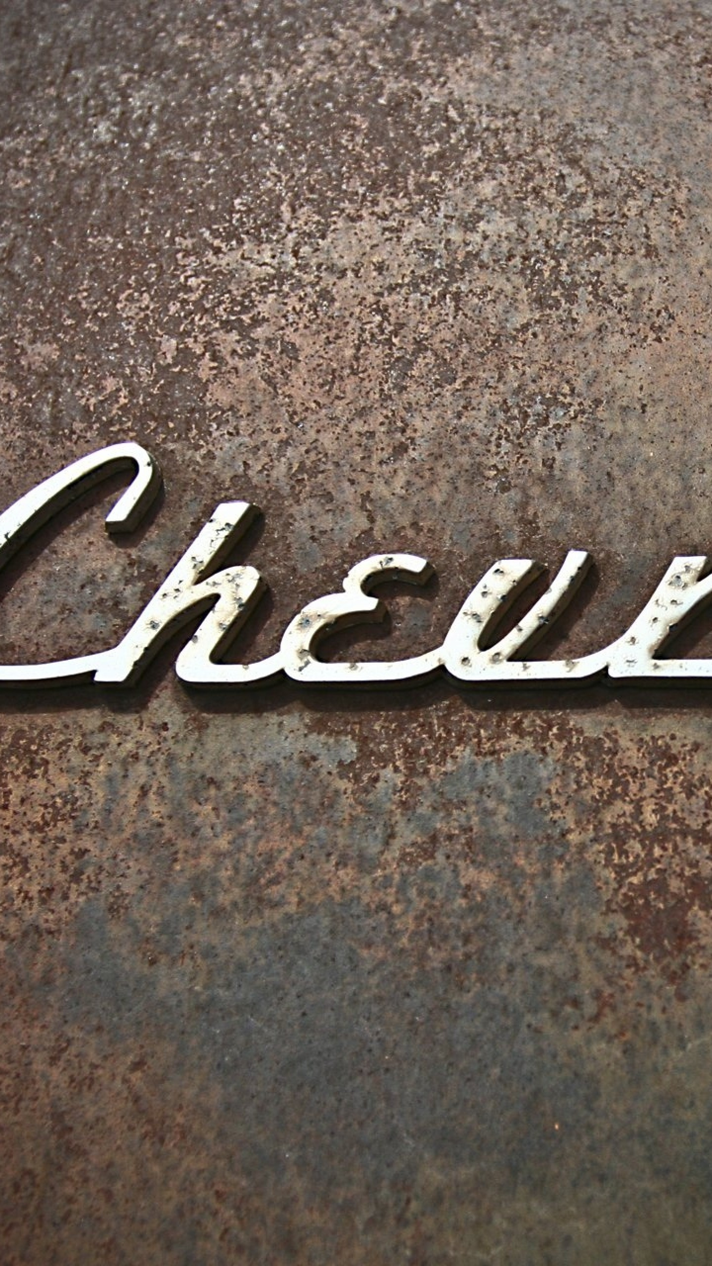 Wallpaper chevrolet, logo, rust