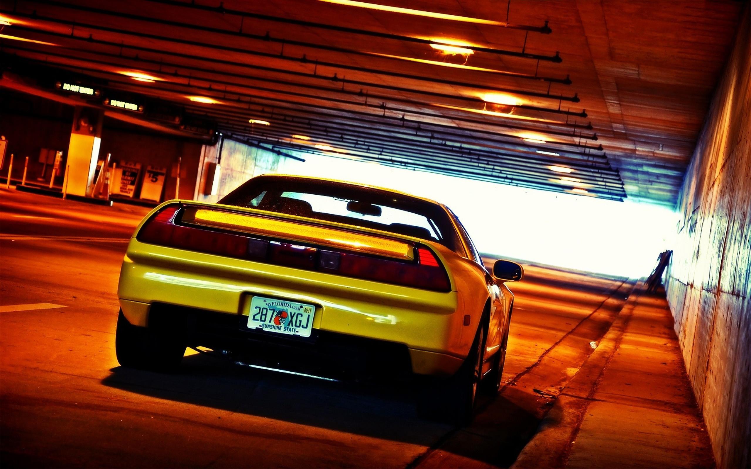 HD Wallpaper of Yellow Cars Honda Nsx Tunnel Jdm, Desktop Wallpaper Yellow  Cars Honda Nsx
