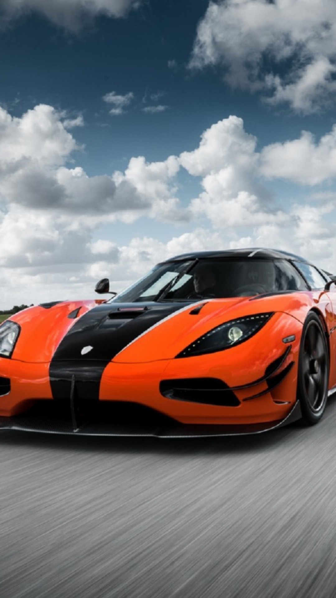 Preview wallpaper koenigsegg, agera, front view 1080×1920