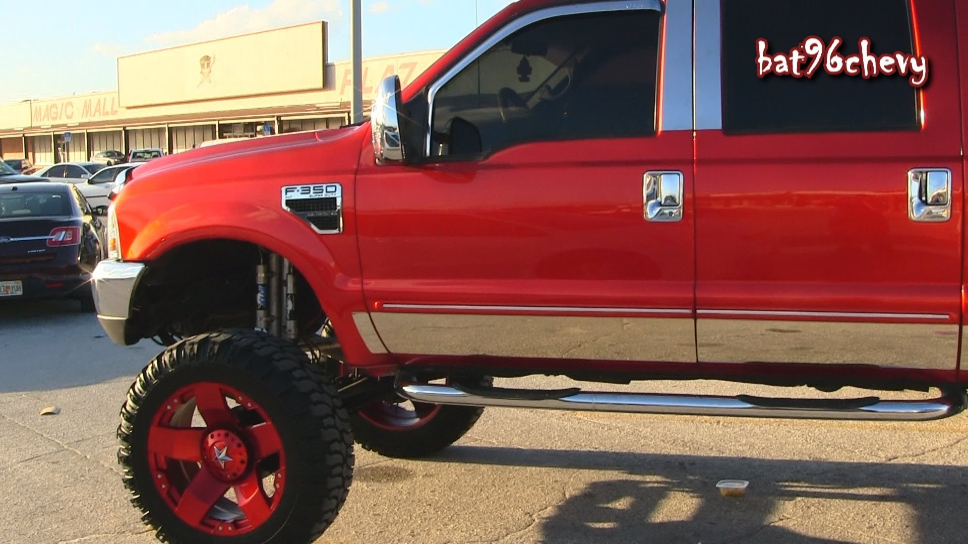 Candy Red Ford F-350 Super Duty Truck lifted on 24's – 1080p HD – YouTube