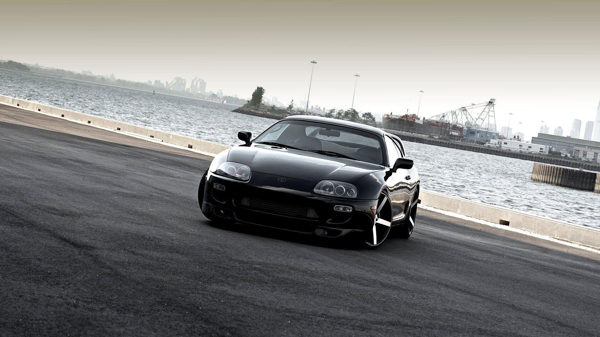 car wallpapers black tuning toyota supra vossen beautiful . …