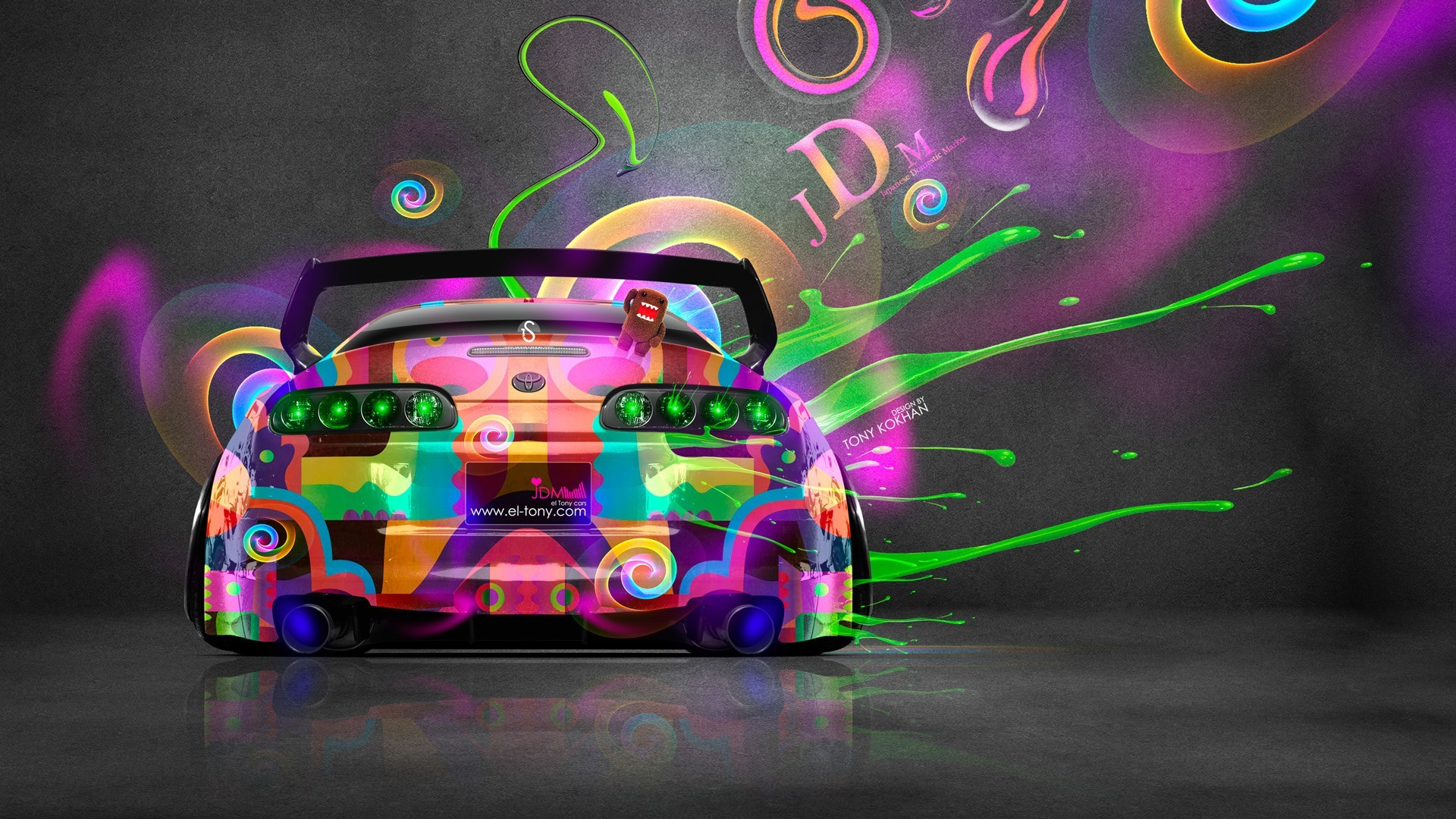 Super Car, Tony Kokhan, Colorful, Toyota Supra, JDM Wallpapers HD / Desktop  and Mobile Backgrounds