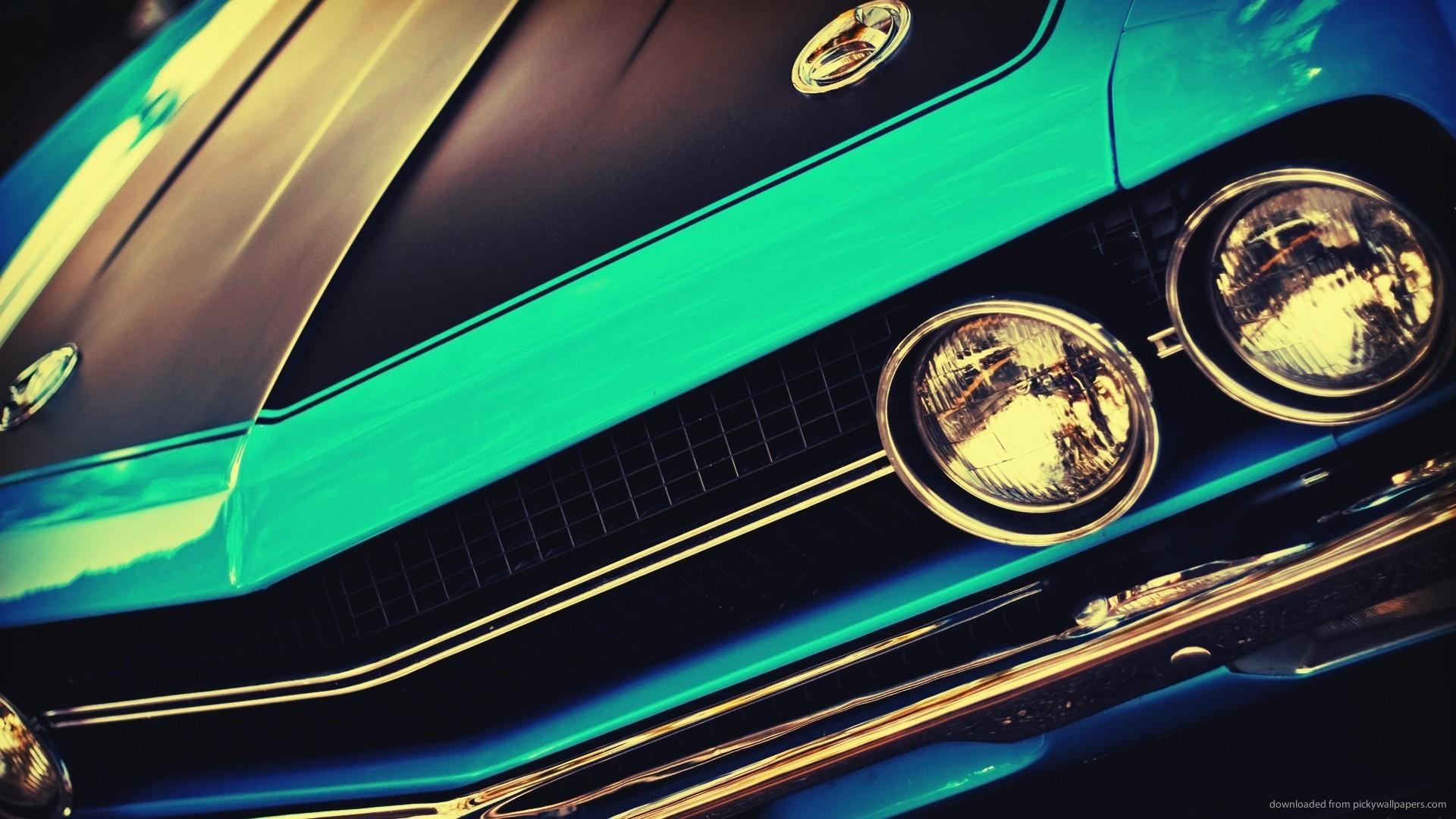 Blue Vintage Muscle Car for 1920×1080