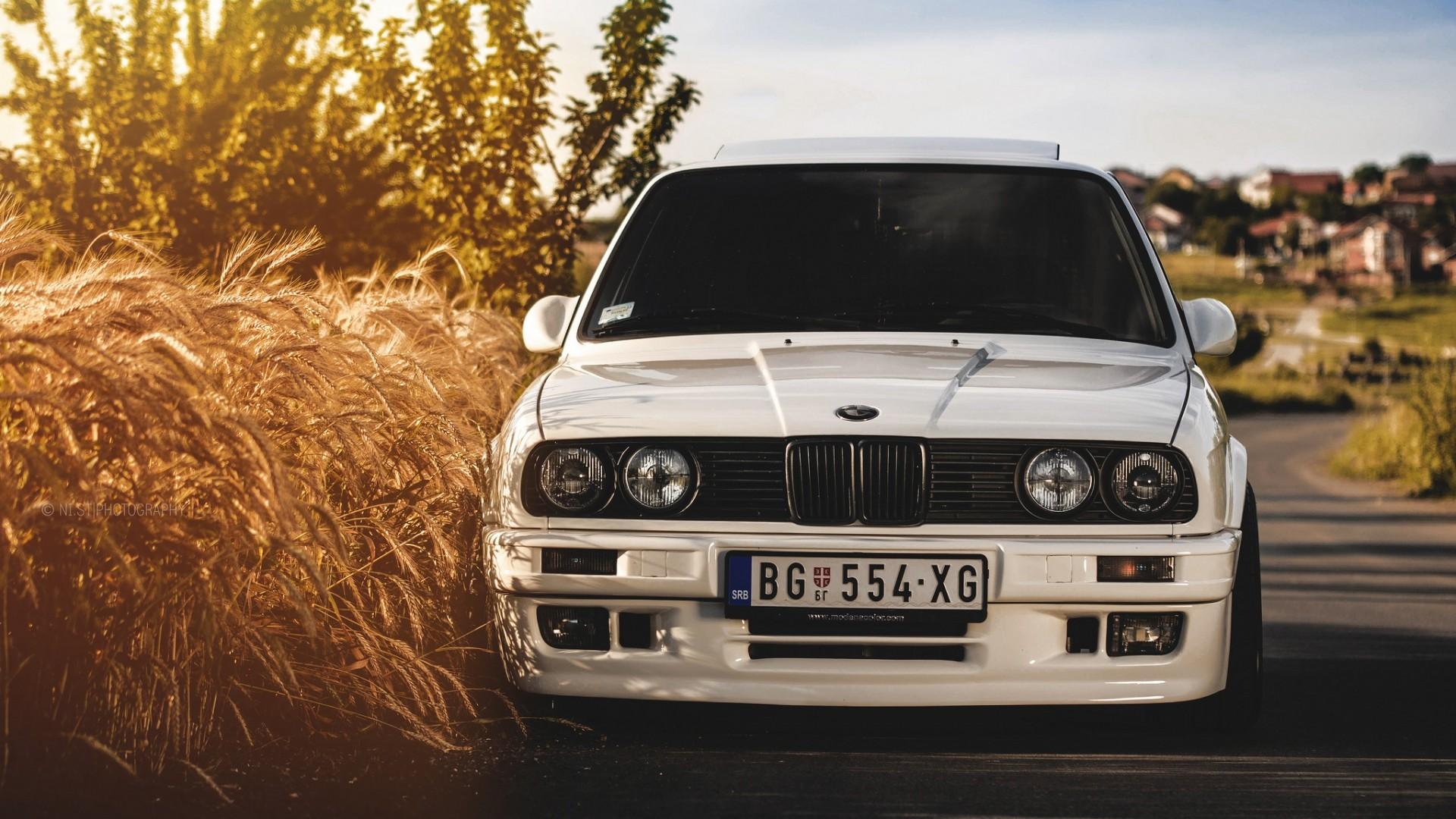 Preview wallpaper bmw, 325i, e30, white, auto 1920×1080