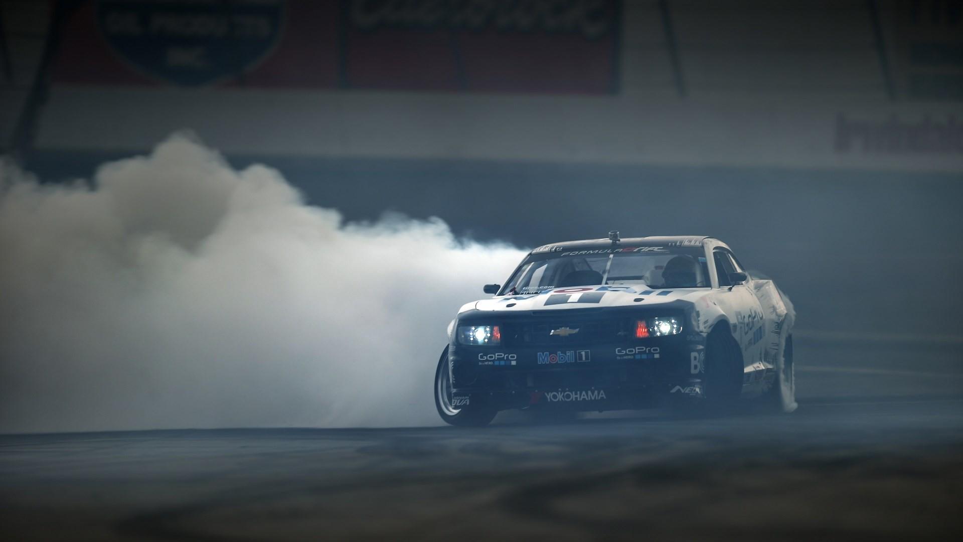 Cars Wallpaper. 1024×768. Chevrolet Camaro Drift Smoke
