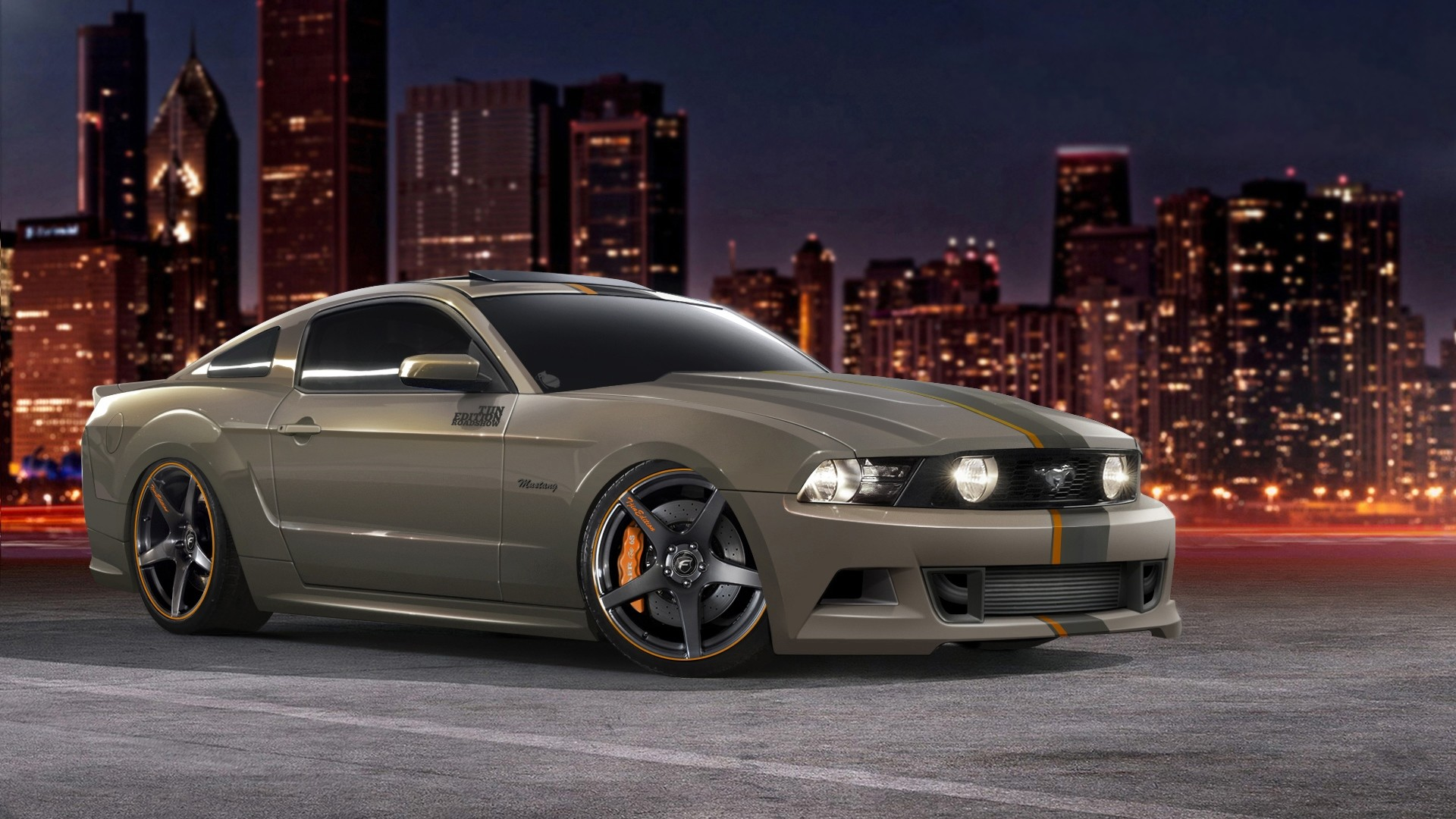 Wallpaper ford, mustang, gt 5 0, tjin edition, tuning, muscle