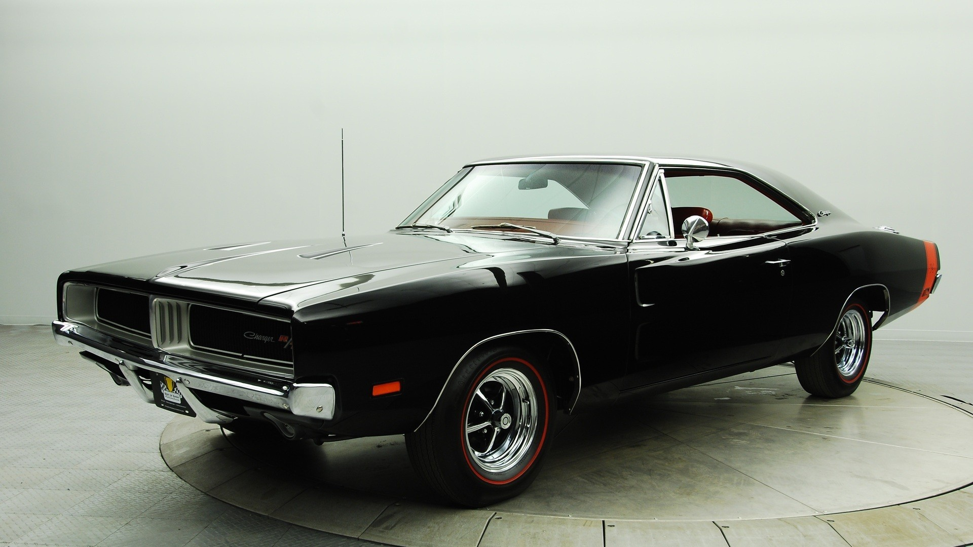 Black Cars Classic Dodge Charger RT Muscle Car
