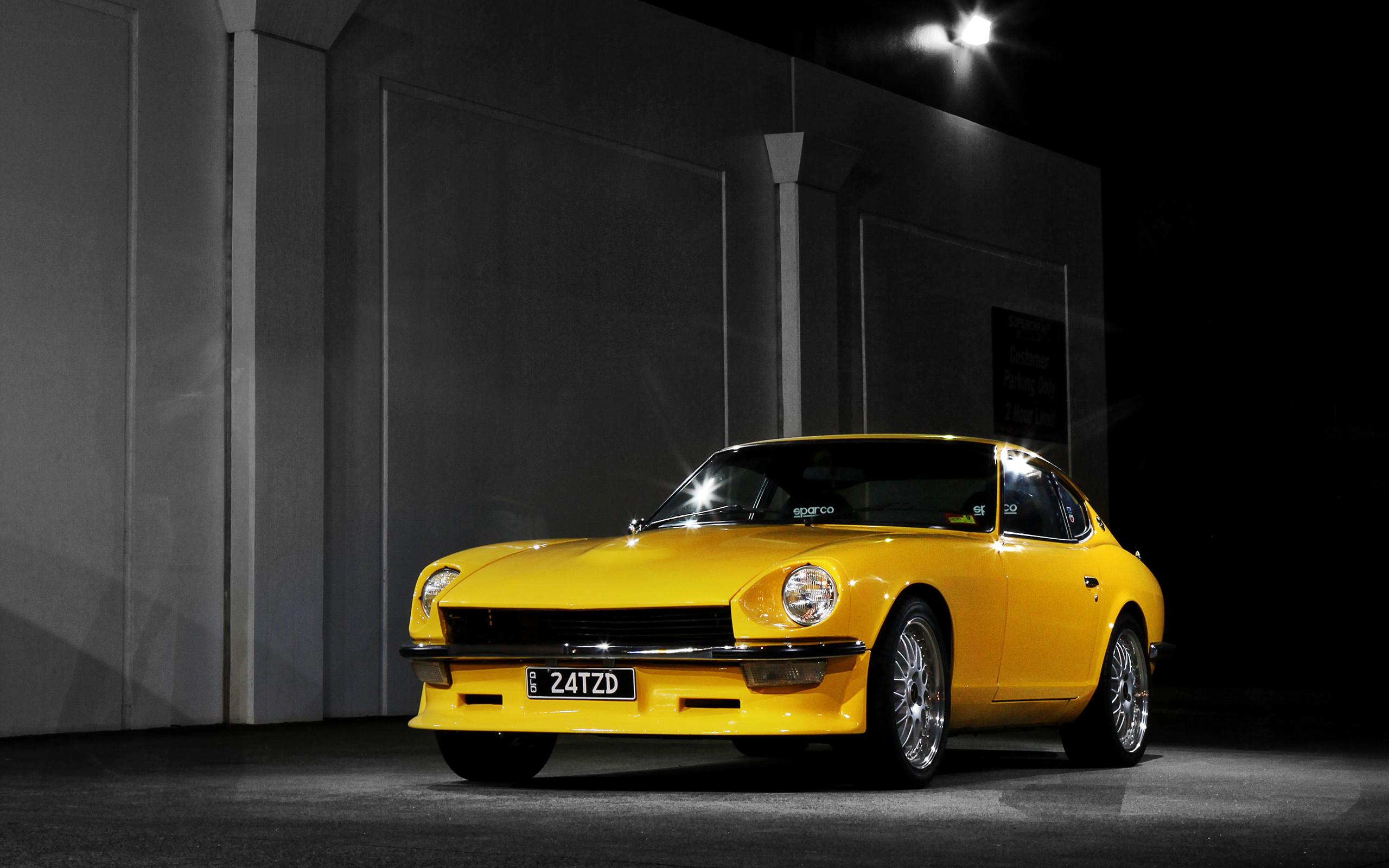 Datsun 240Z, Car, Vehicle, Night, Tuning, JDM