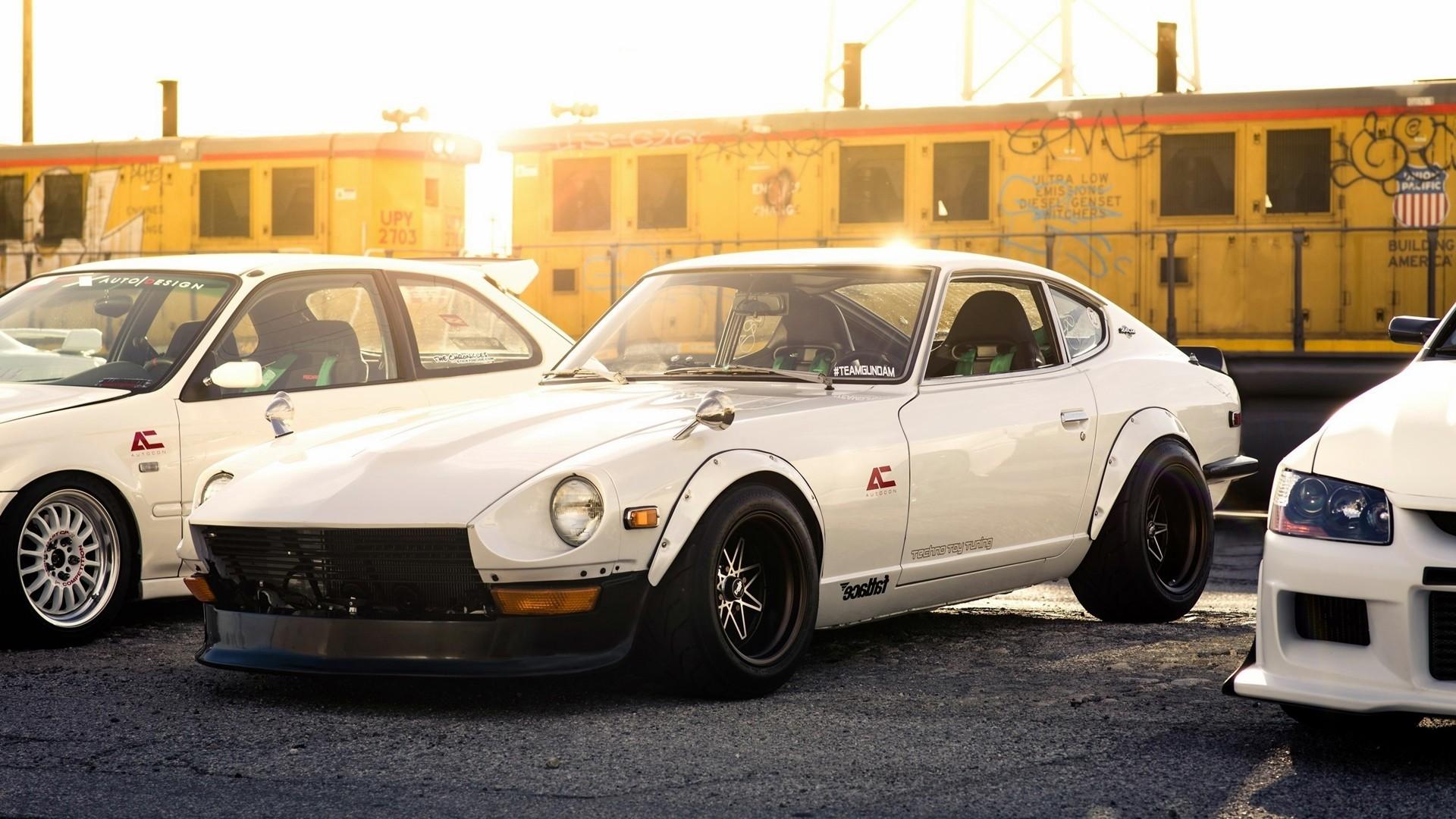 cars, Mitsubishi, Nissan, roads, vehicles, Mitsubishi .