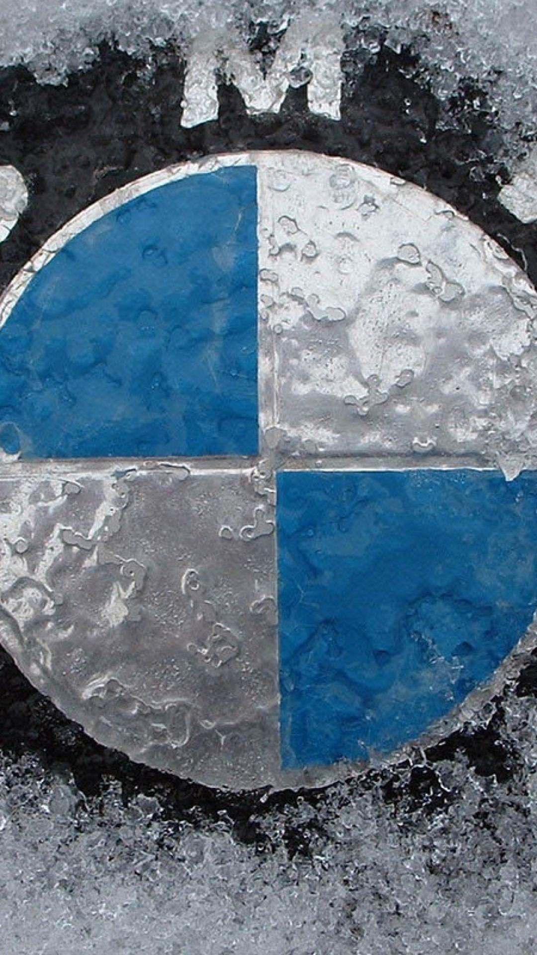 BMW Logo Frozen In Ice Net Book 4K Wallpaper