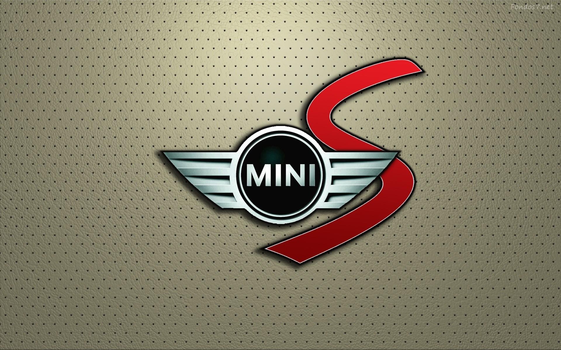 Mini Cooper S Logo in Leather Wallpaper HD Widescreen
