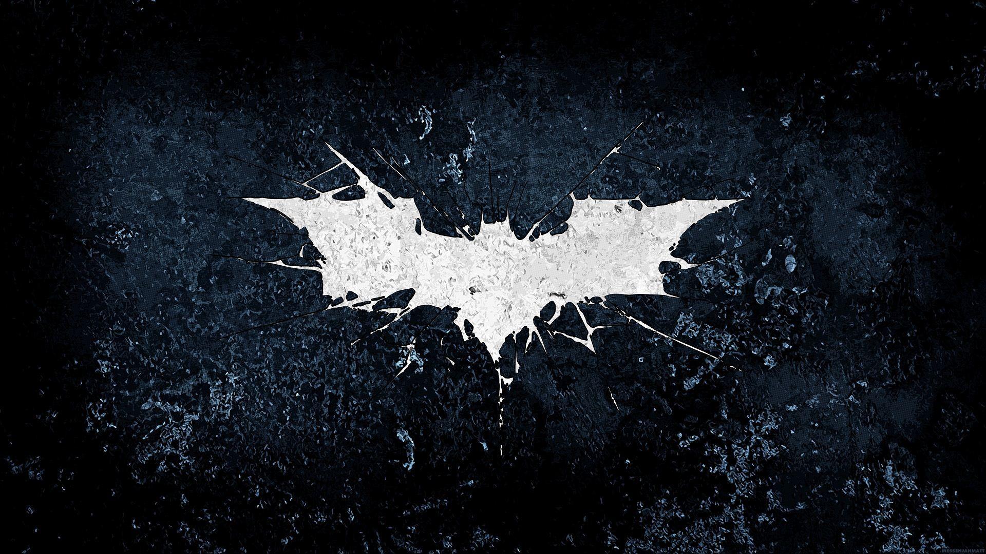 Splattered Batman Logo