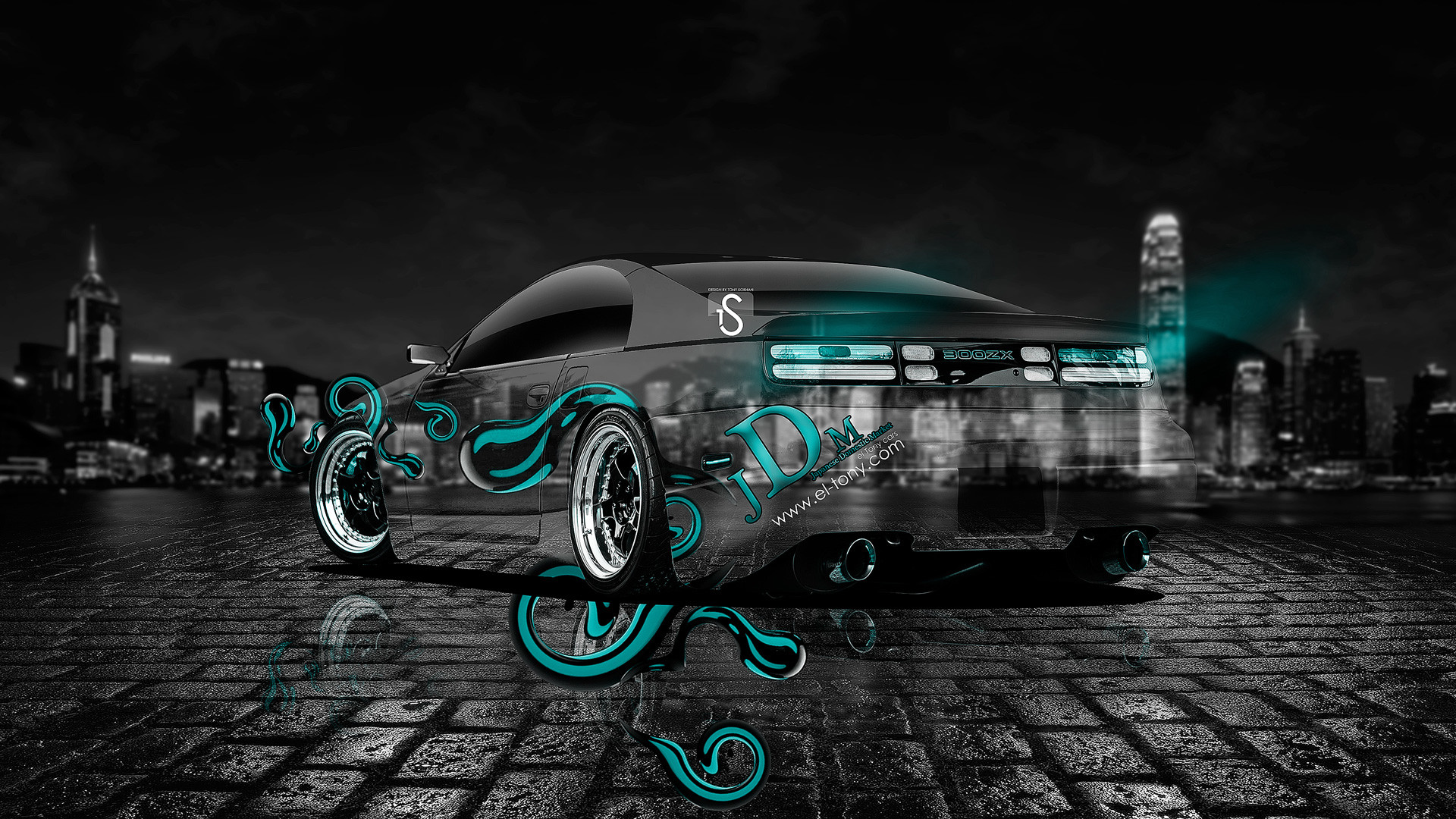 Nissan-300ZX-JDM-Azure-Crystal-Effects-Car-2013- …