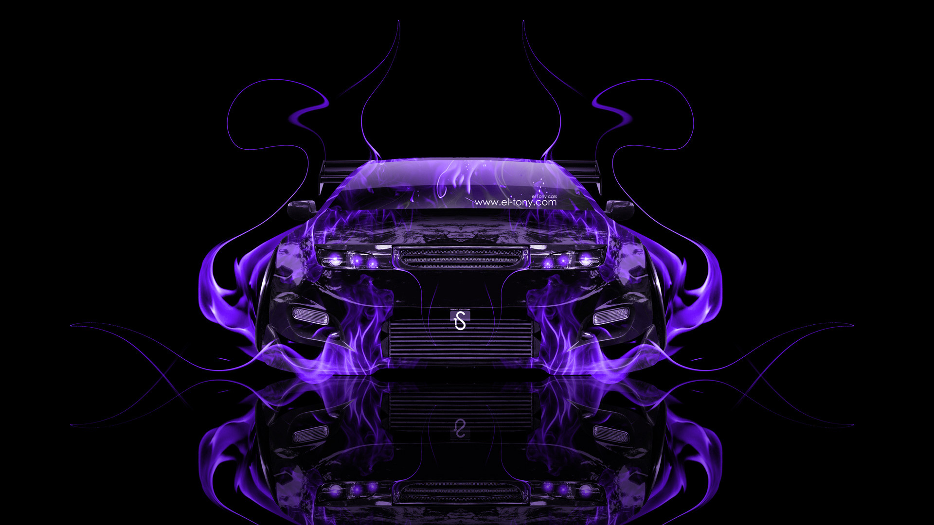 … Nissan-300ZX-JDM-Tuning-Front-Violet-Fire-Car-