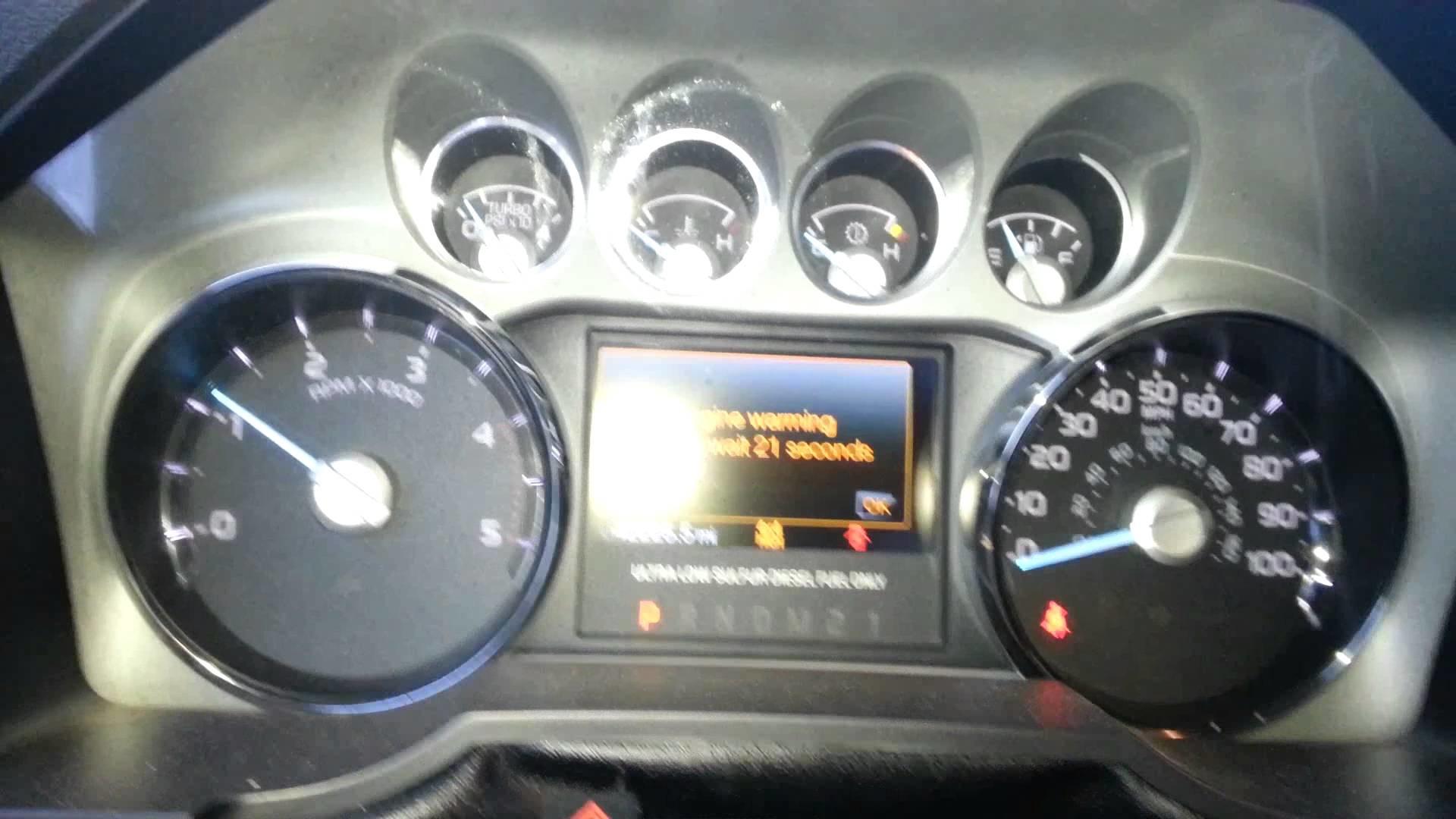 -19 degree 6.7 Powerstroke cold start.