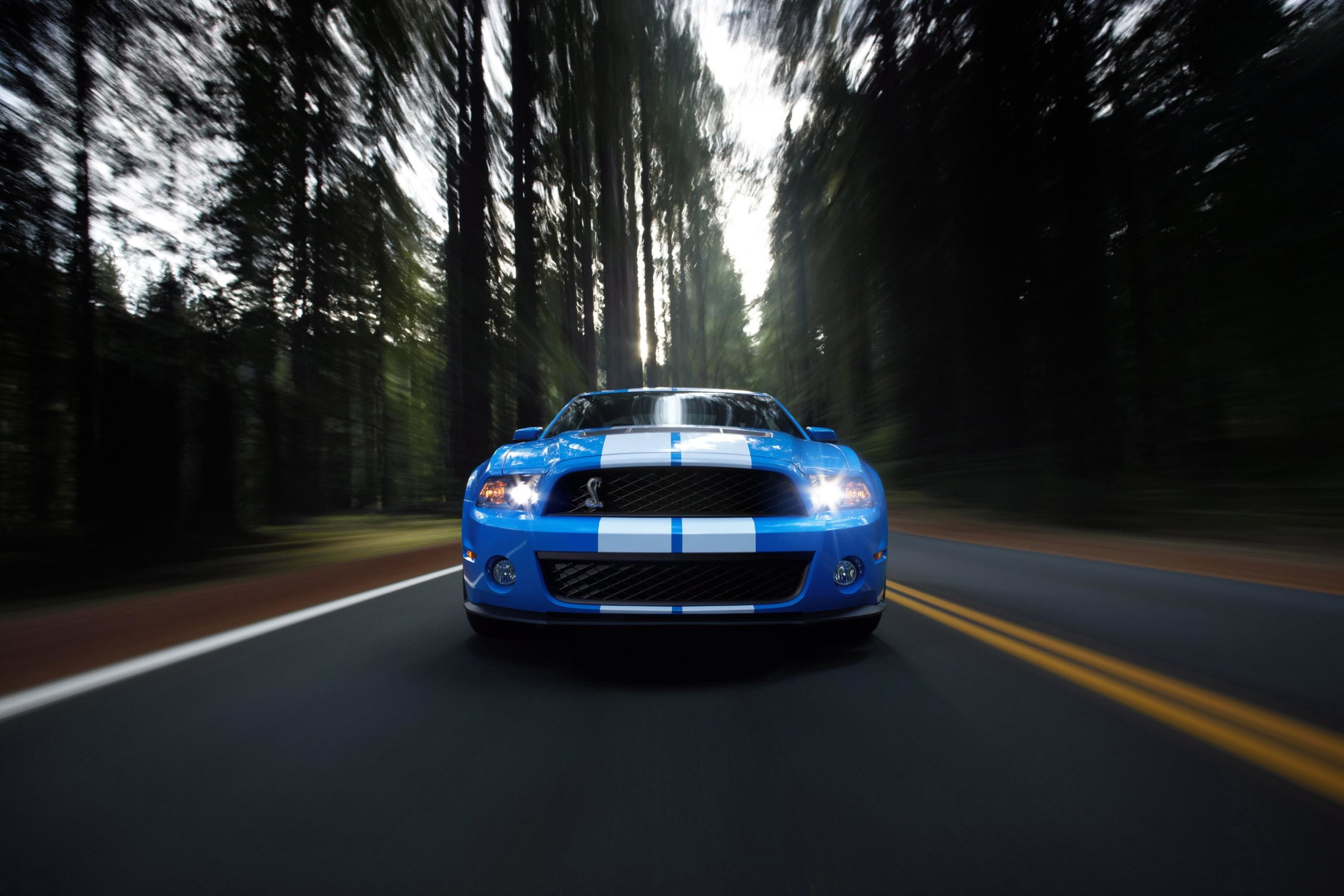 Blue Ford Mustang #Hd #Cars