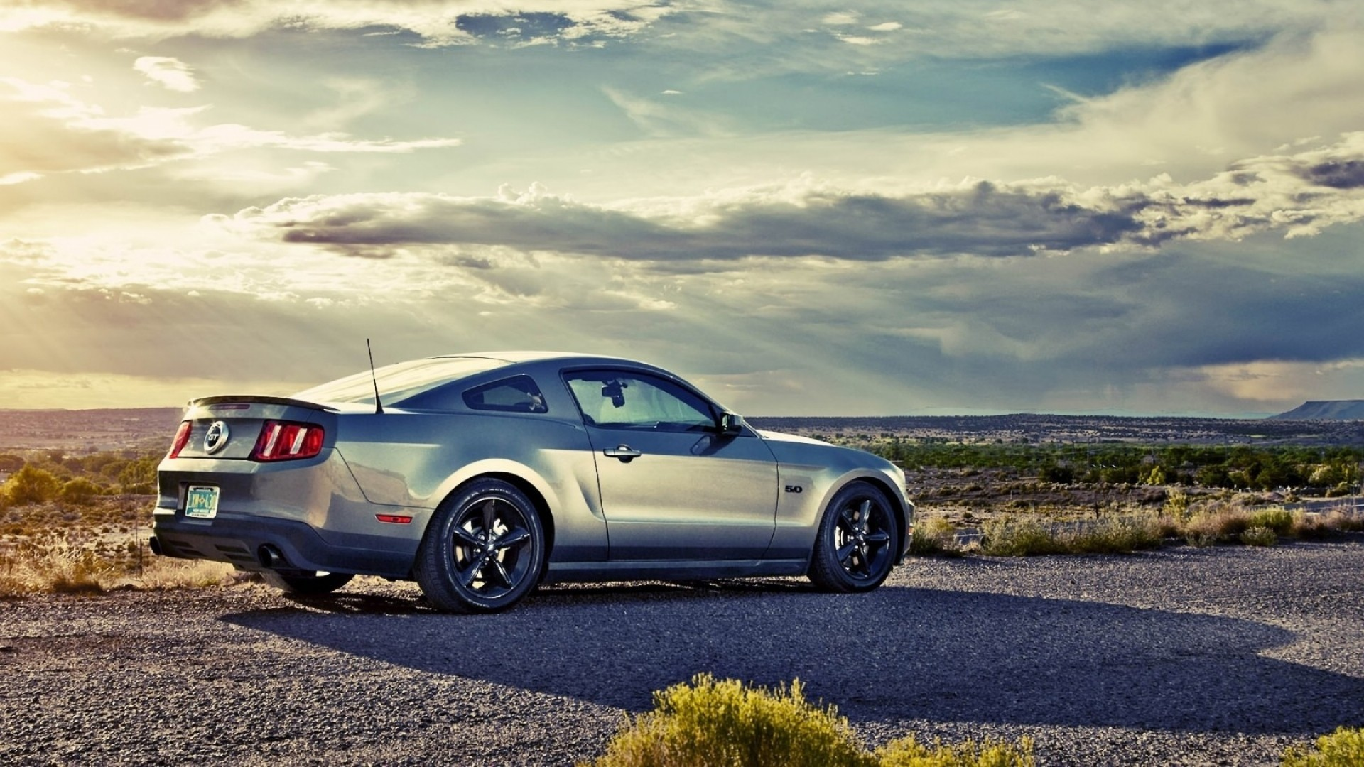 Preview wallpaper mustang, coupe, road, ford 1920×1080