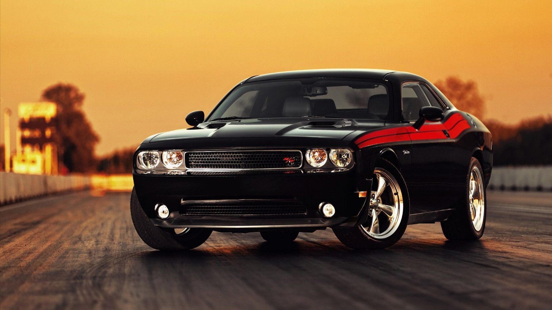 Download Black Classic Ford Mustang Wallpaper
