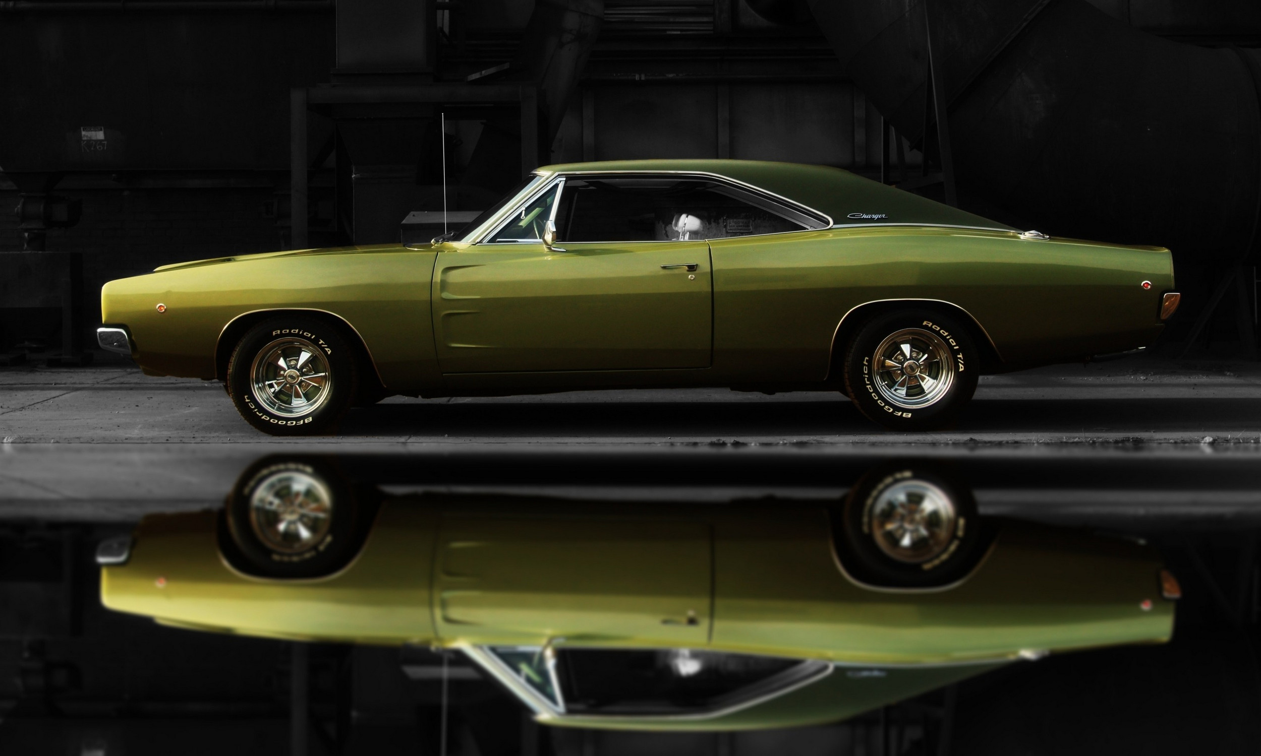 1968 Dodge Charger R/T Black Background Full Reflection – Photo by Scott  Crawford