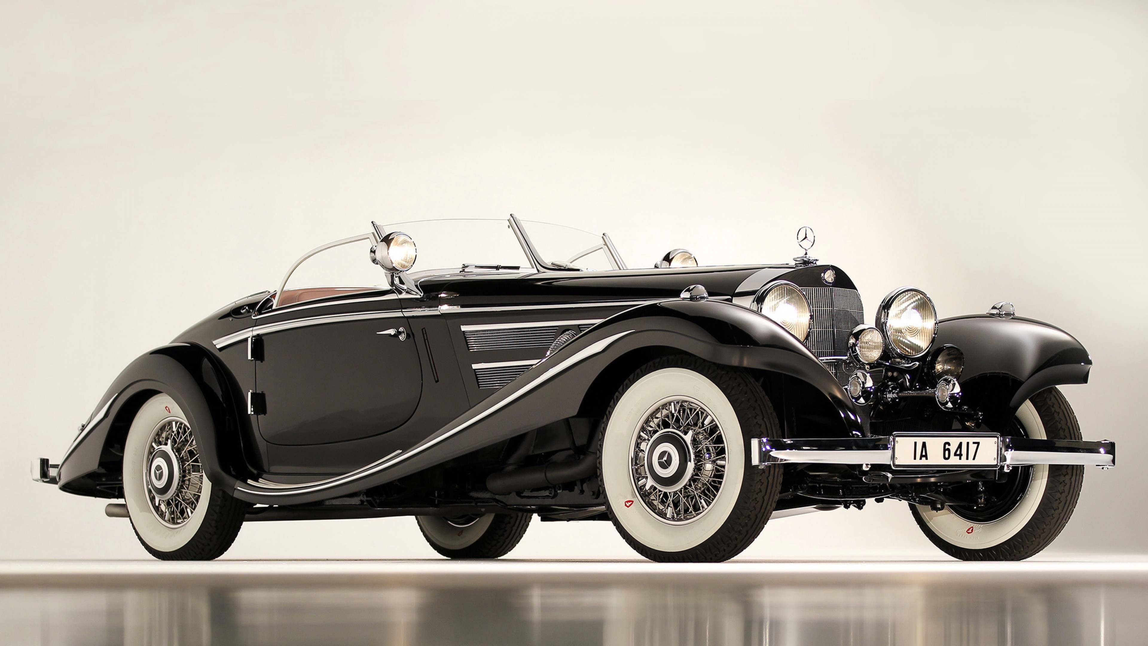 Wallpaper mercedes, 1936, 540k, special roadster, classic, car,  black