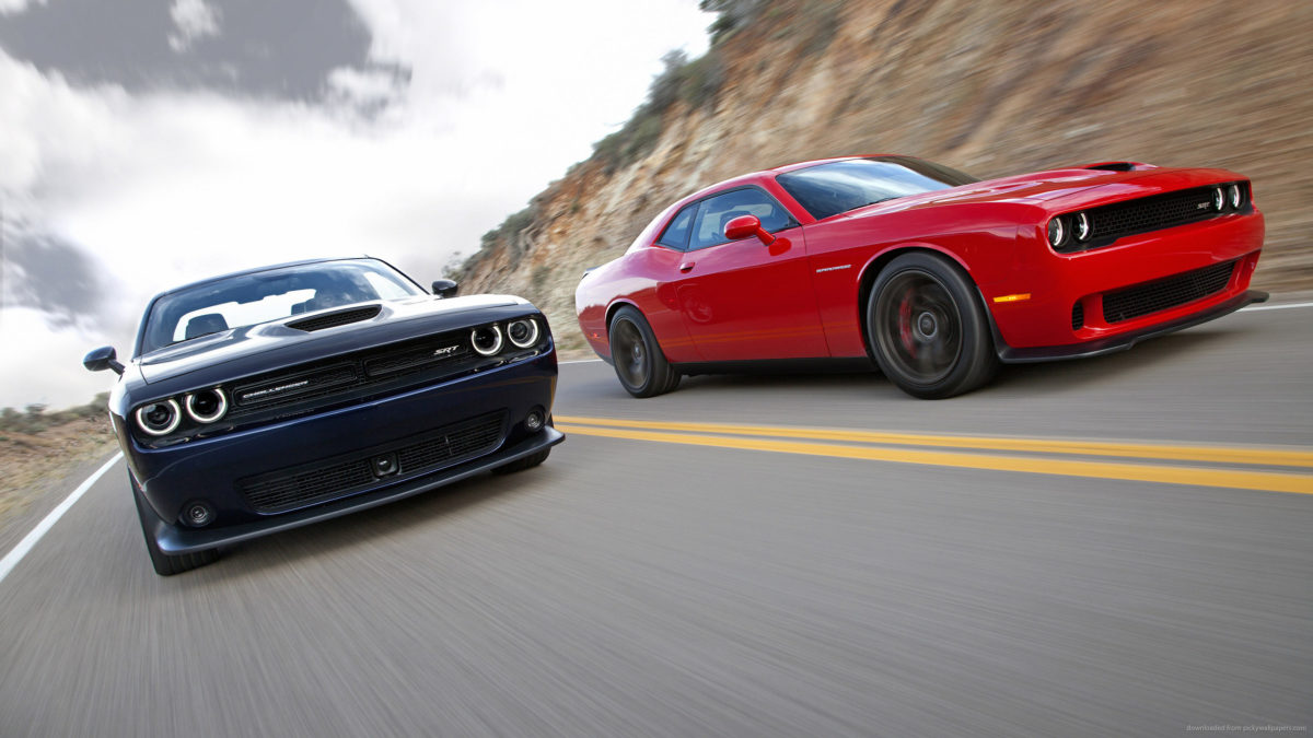 Red And Black Dodge Challenger SRT Hellcat Racing for 2560×1440