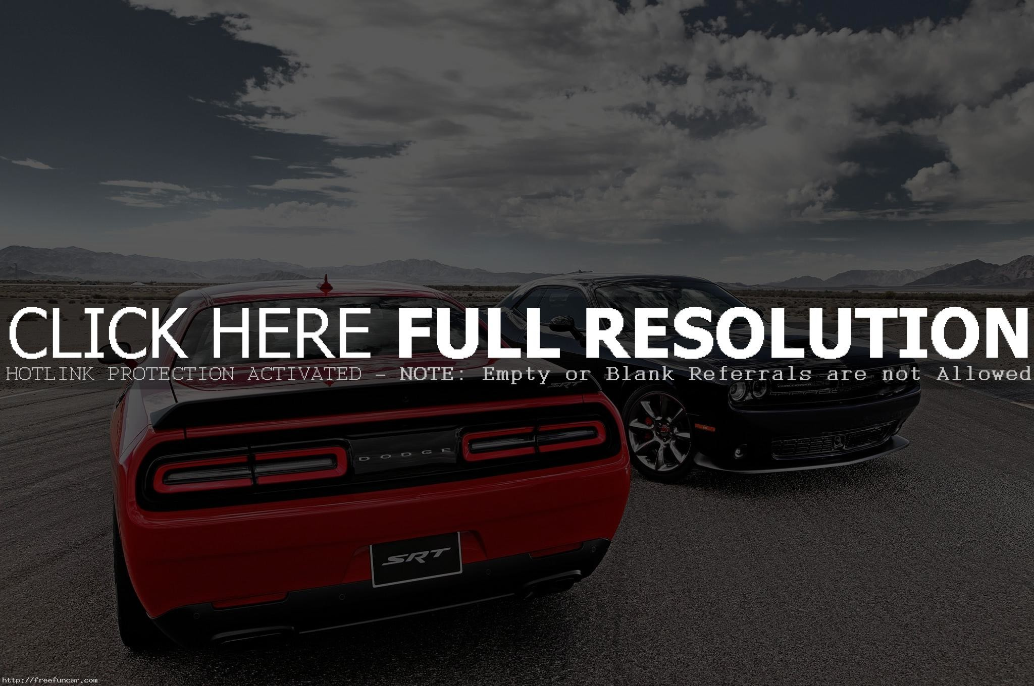 BLACK AND RED DODGE CHALLENGER SRT HELLCAT WALLPAPERS