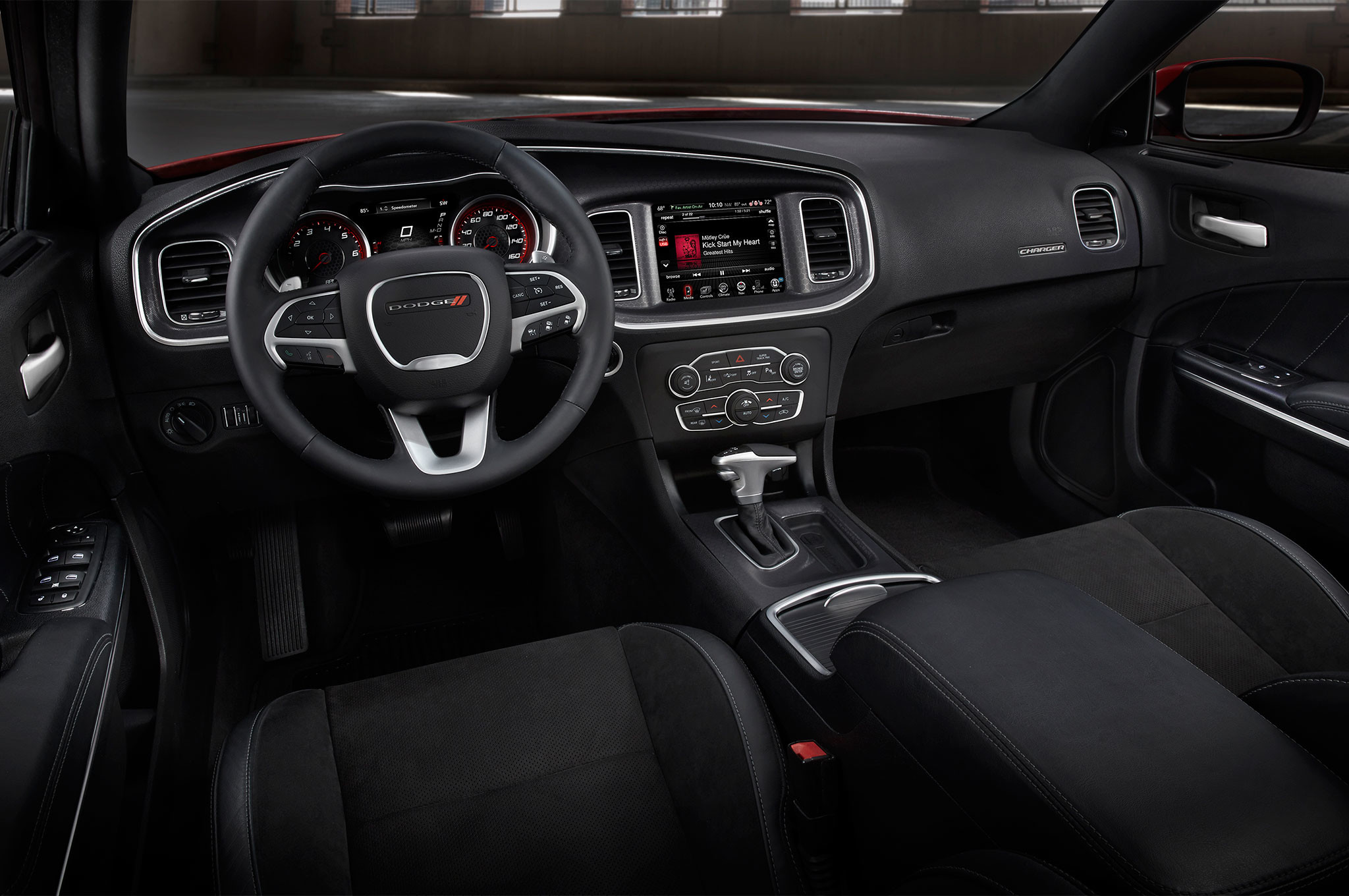 The 2017 Dodge Charger Hellcat will be powered by the Supercharged HEMI SRT  engine. The new Dodge Charger 2017 interior will stay almost the same
