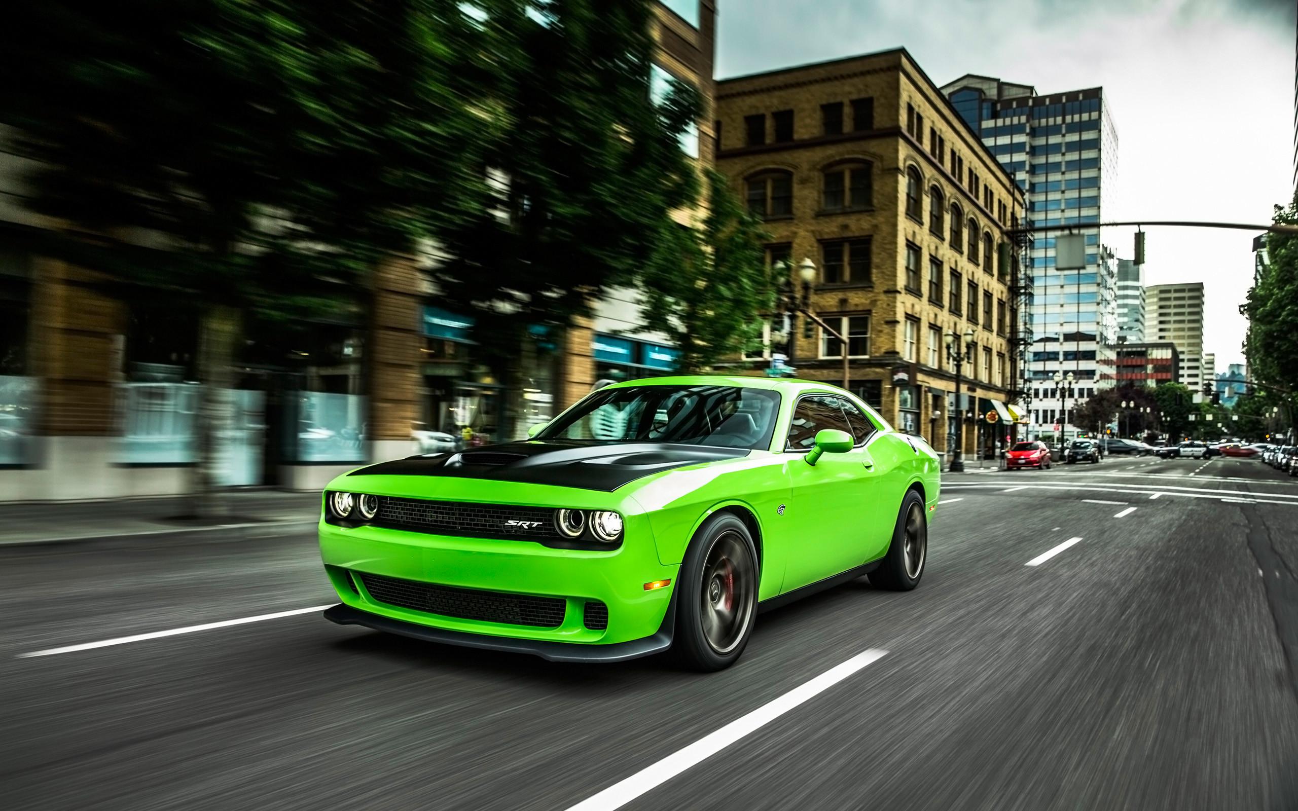 2016 Dodge Challenger SRT – Hellcat – Green – 1 – – Wallpaper