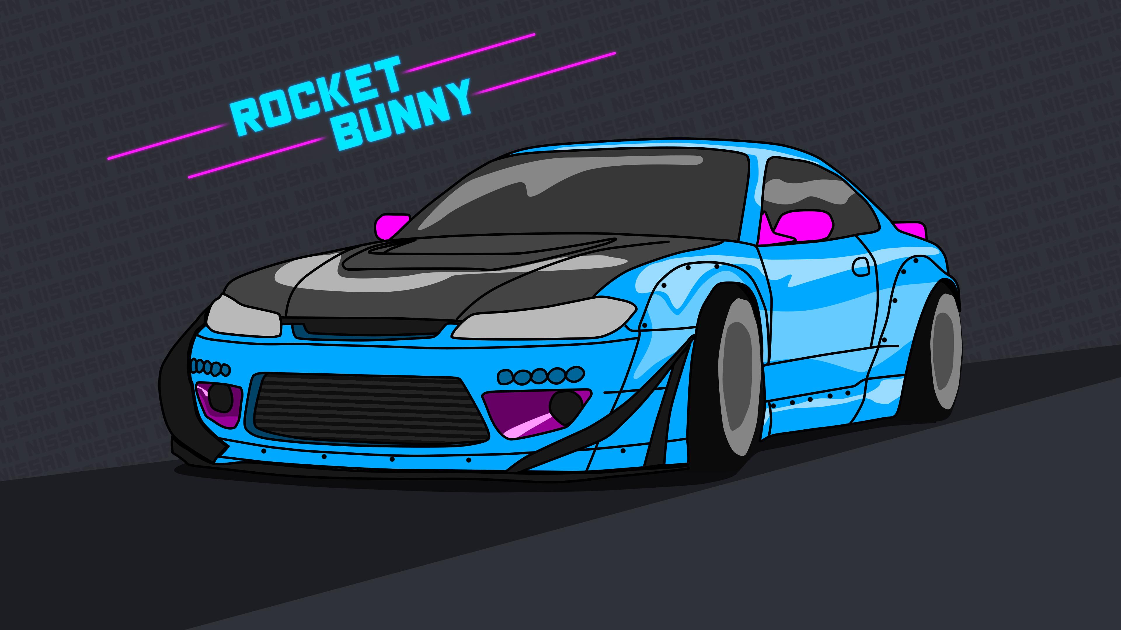 … Nissan Silvia S15 wallpaper 4k rocket bunny Neon by ItsBarney01