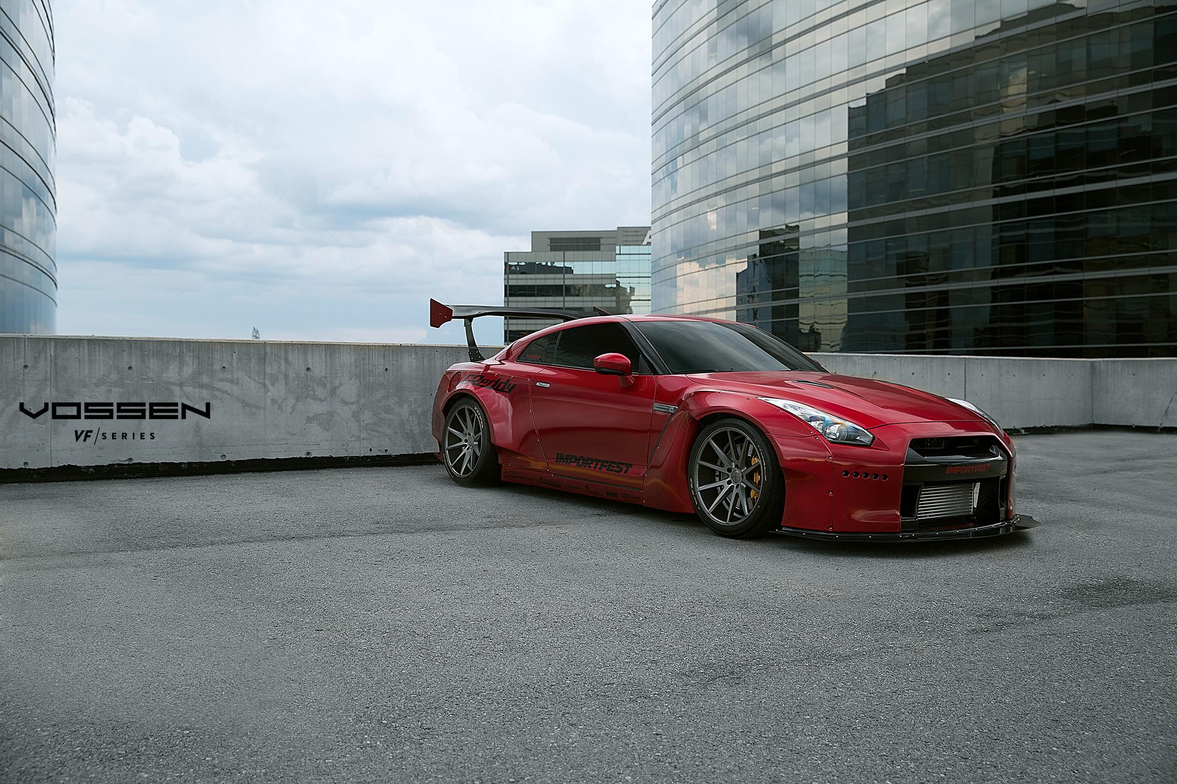 Rocket Bunny Nissan GTR – Vossen VFS1 – Matte Graphite Vossen VFS1 – Matte  Graphite F