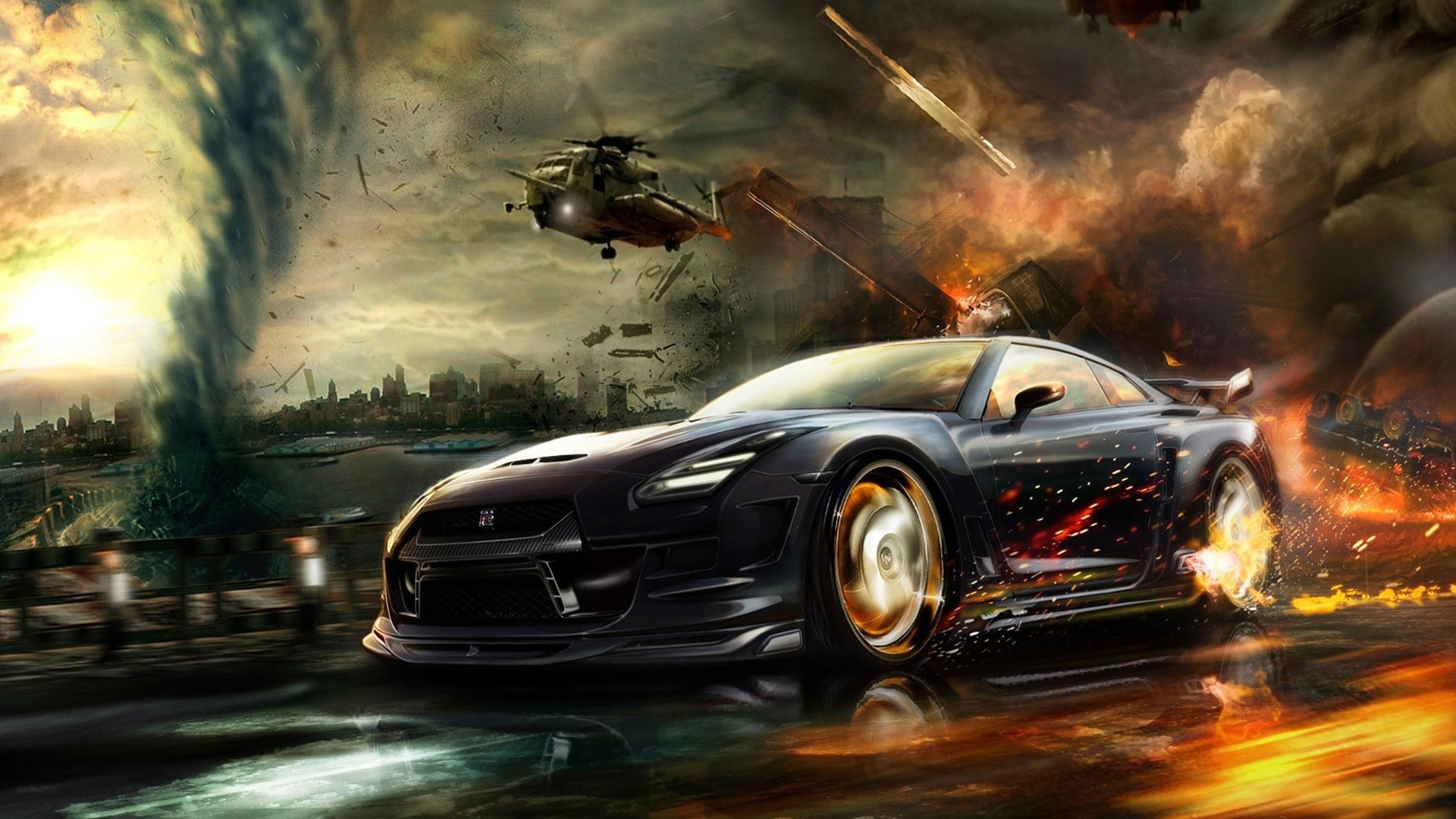 1920 x 1080 px nissan gtr wallpaper for mac computers by Greeshawn Stevenson