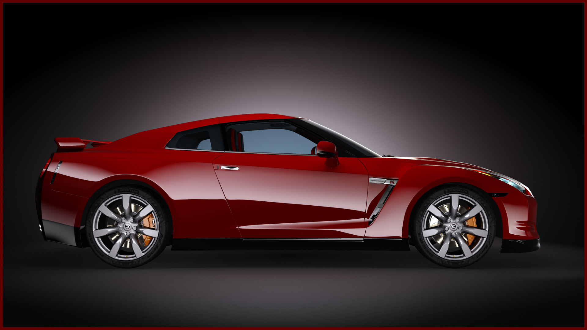 2009 Nissan Gtr #14 – Red Nissan GT-R Wallpaper 1920X1080