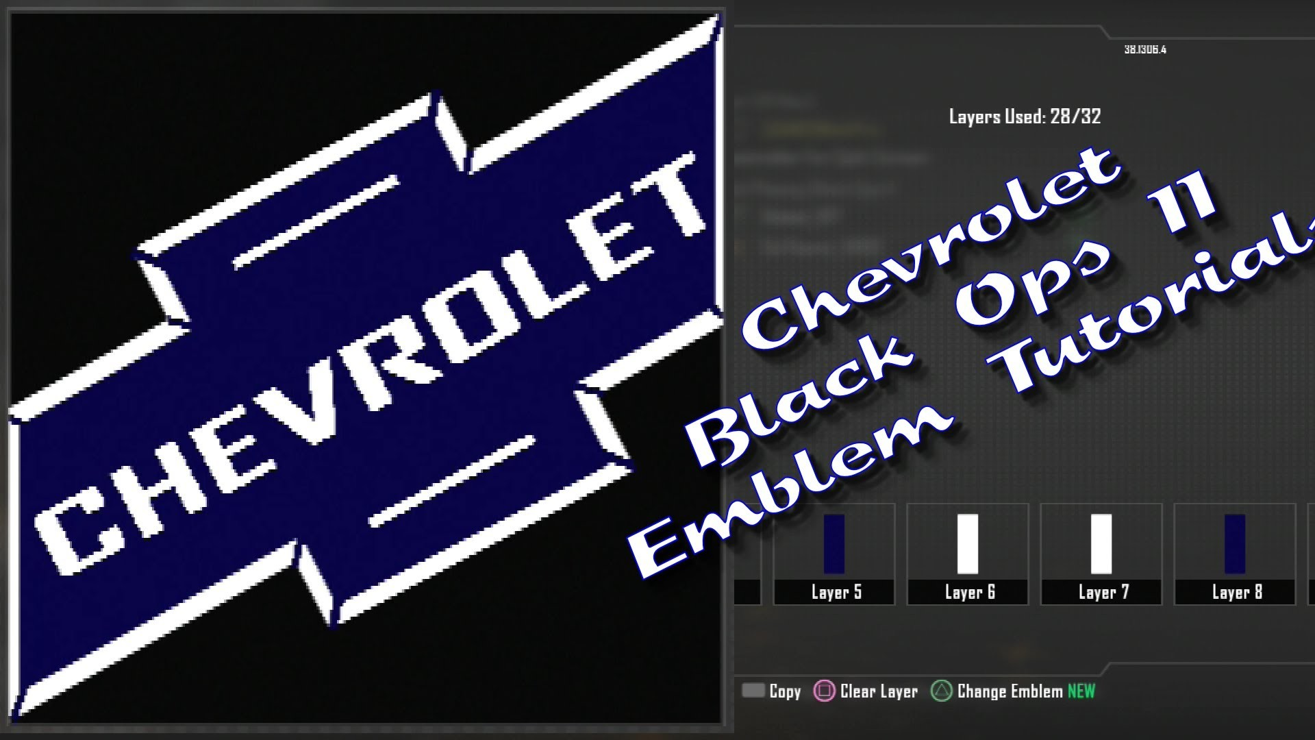 "Machinima's TMR – Call of Duty: Black Ops 2 ""Chevy Chevrolet "" Emblem  Tutorial 1080p HD – YouTube"