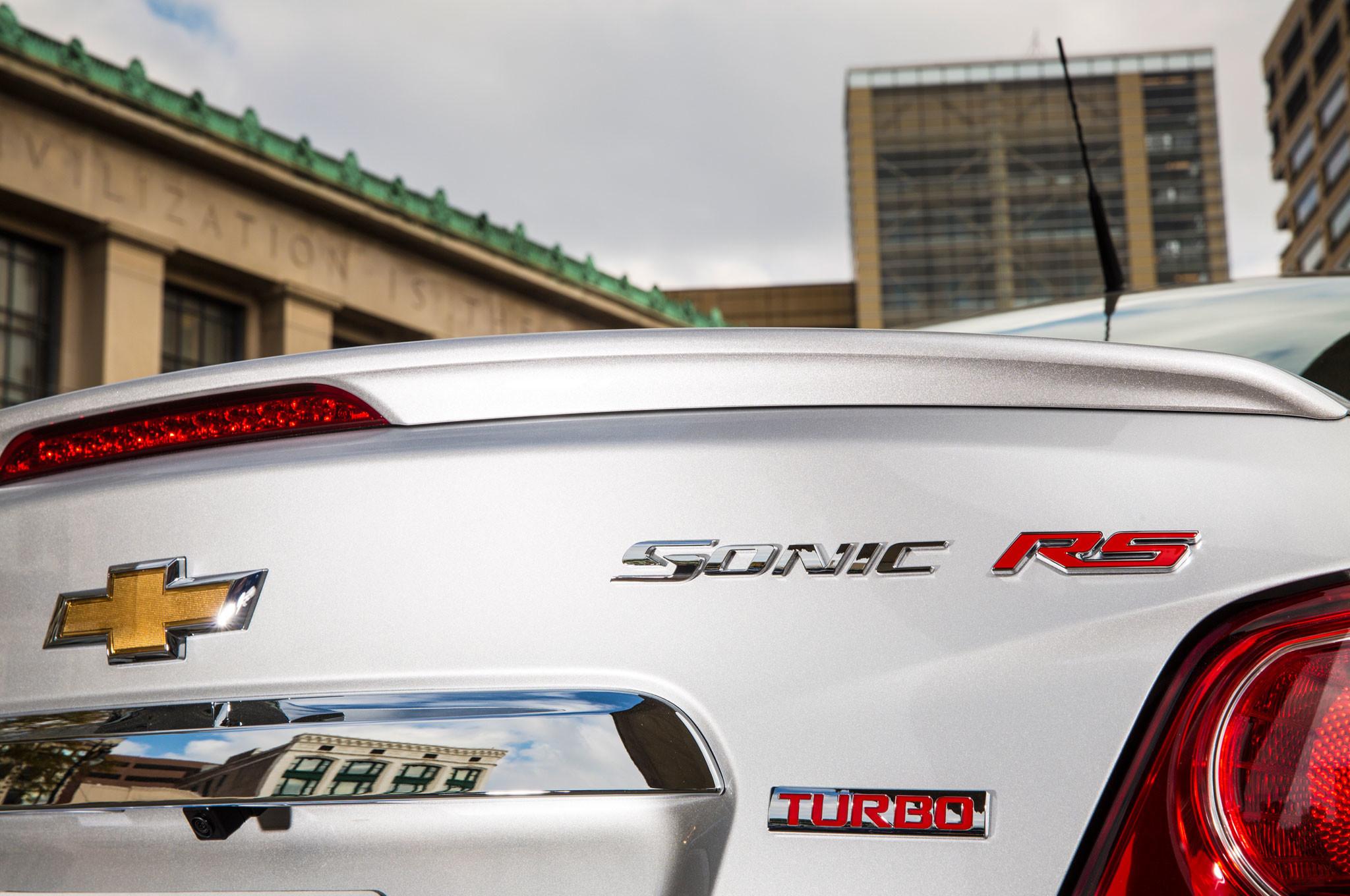 2015 Chevrolet Sonic RS Sedan Badge