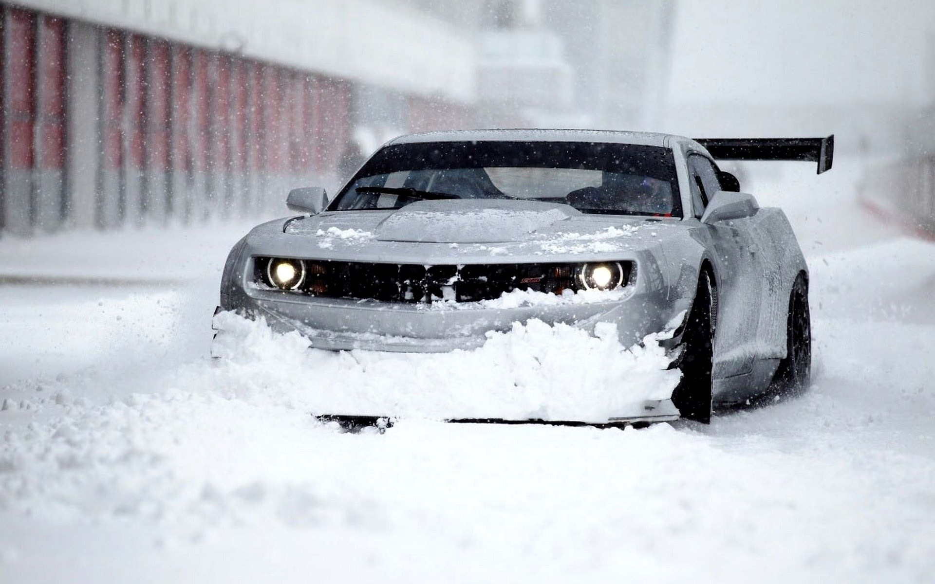 car chevrolet gt3 winter hd wallpaper