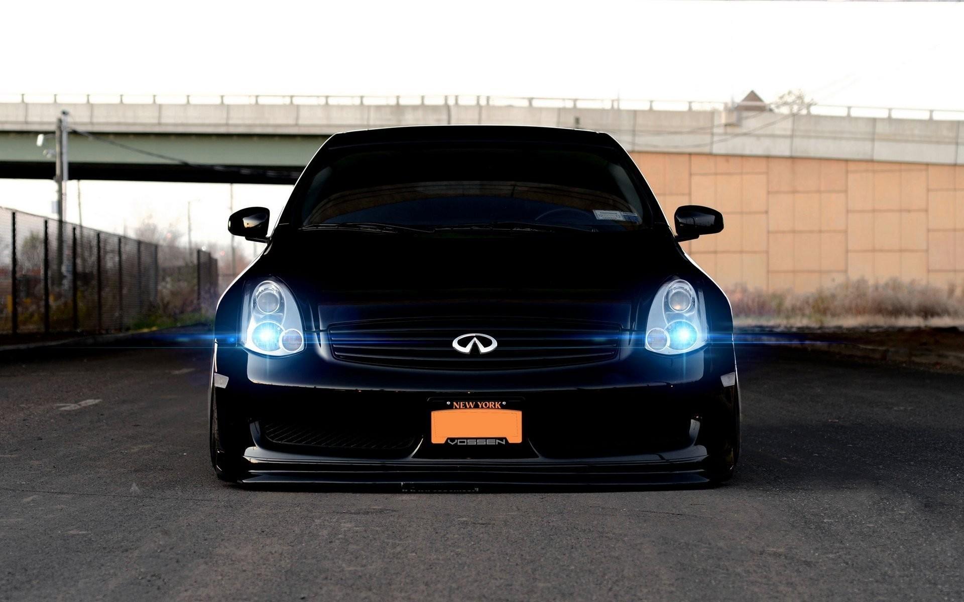 car wallpapers black infiniti g35 tuning vossen vehicles wallpapers black  infinity tuning vossen front beautiful machine