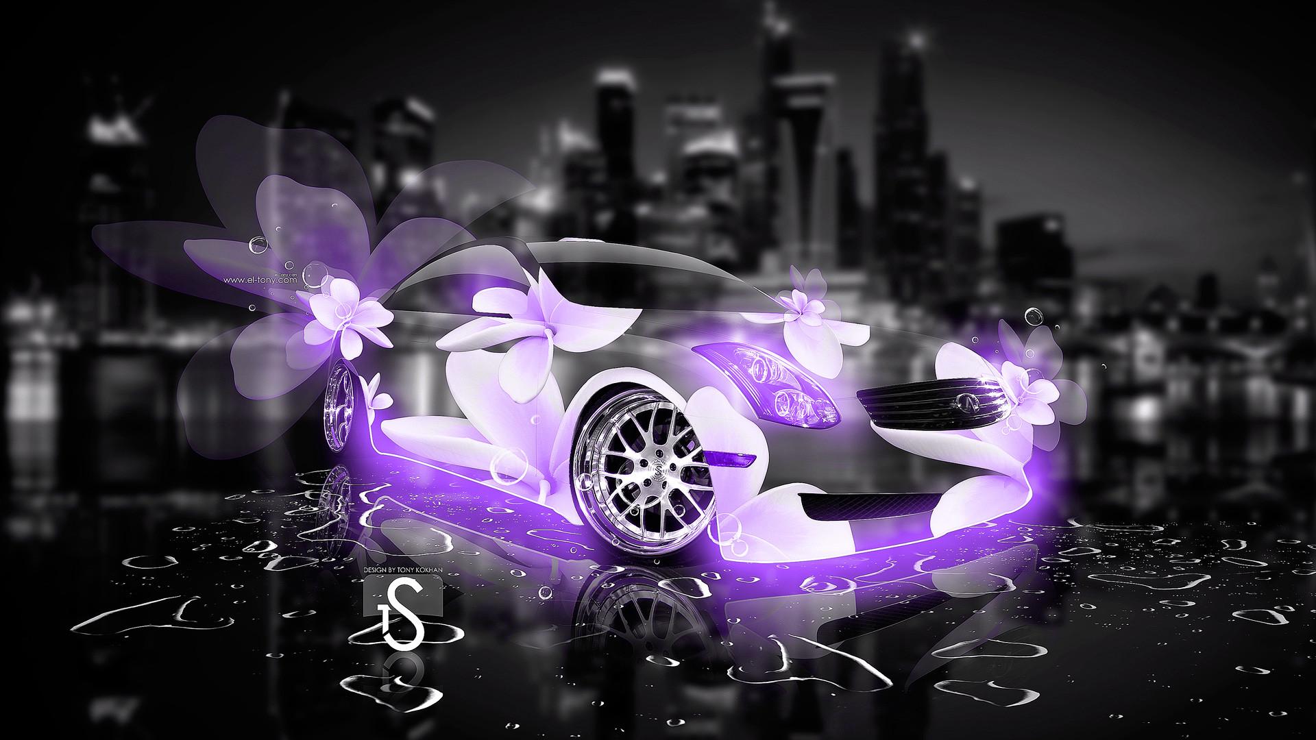 … Infiniti-G35-Fantasy-Violet-Flowers-City-Car-2013-